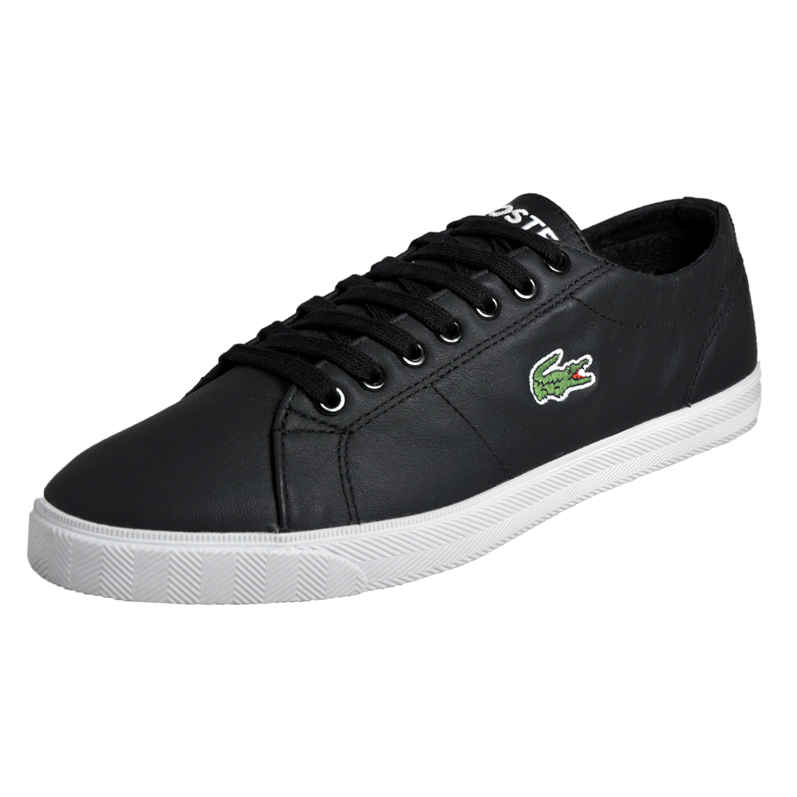 ff0635a86aadec Lacoste Marcel LCR3 SPM Mens Classic Casual Designer Leather Plimsoll Trainers  Black