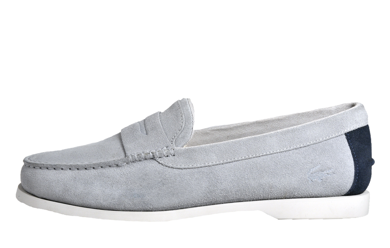 33ecb47a7 Lacoste Navire Penny 216 Mens Suede Classic Loafer Designer slip on Shoes  Light Grey