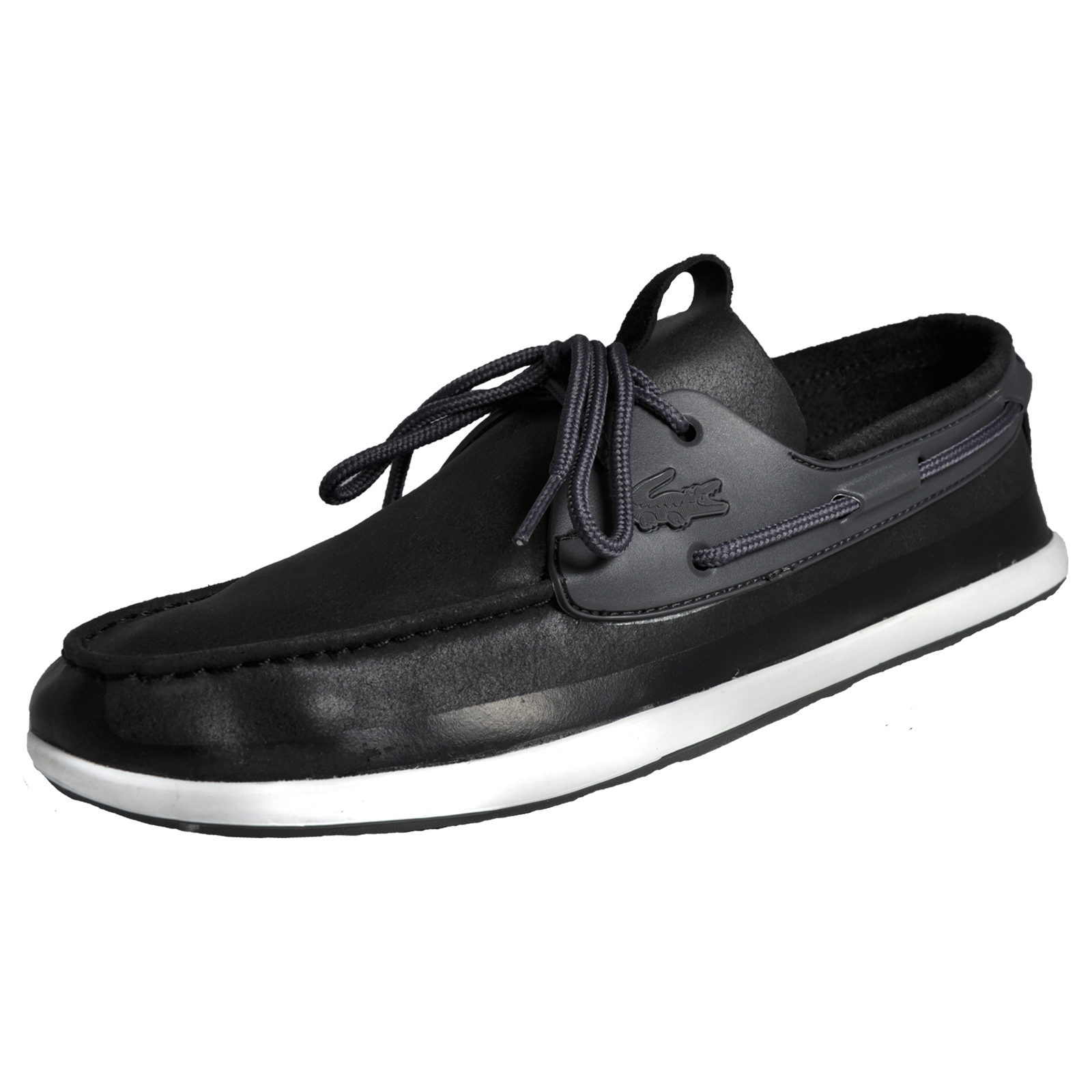 66eea5a70dae Details about Lacoste Landsailing 316 Mens Classic Casual Designer Leather Boat  Shoes Black