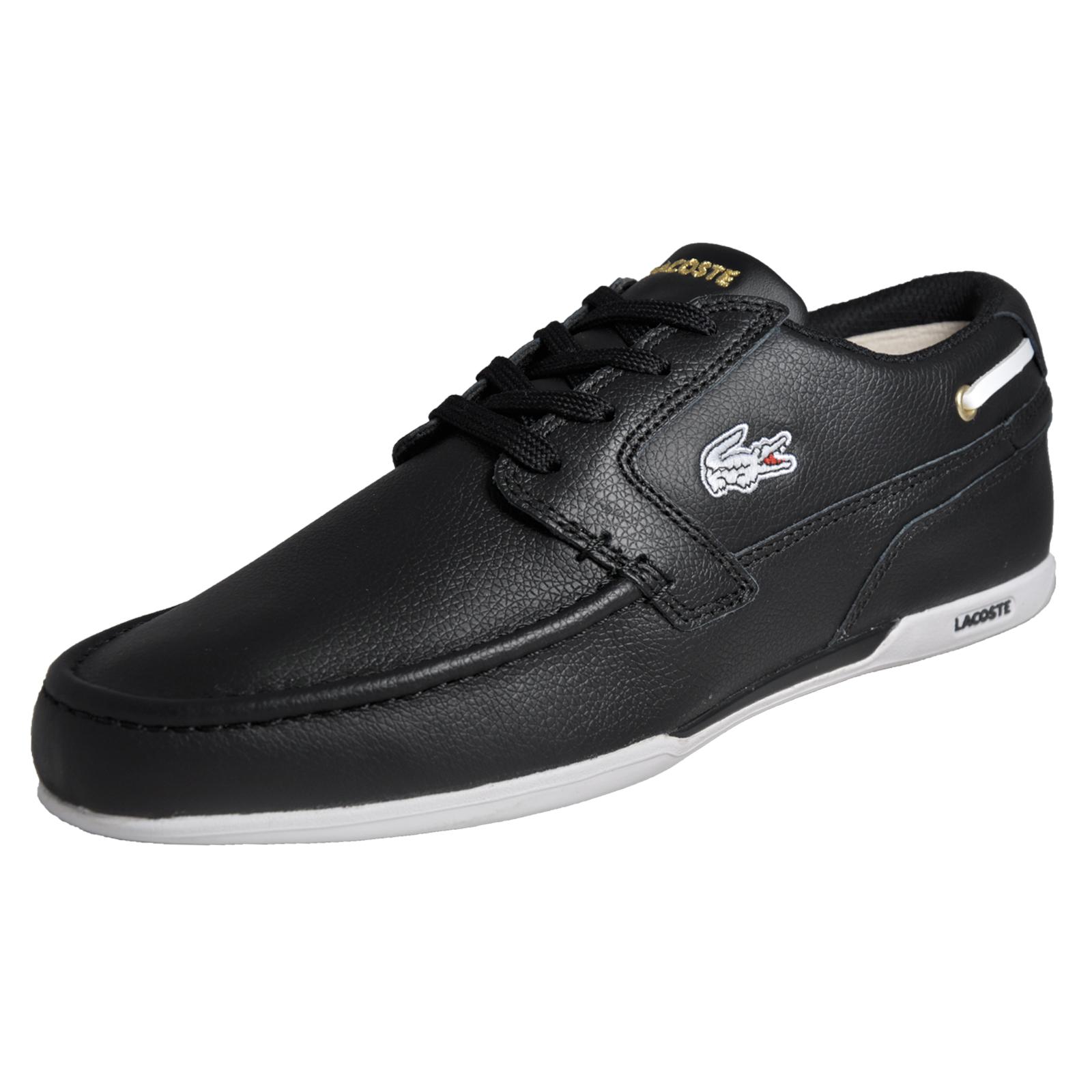 781a588125646d Details about Lacoste Dreyfus AP Mens Classic Casual Designer Leather Deck  Shoes Black