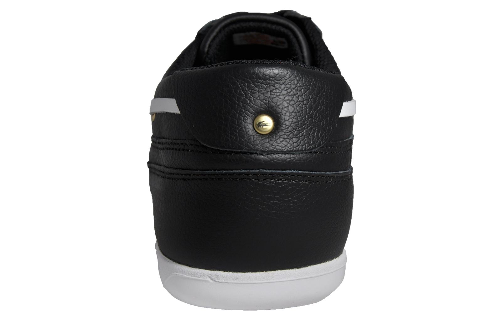 5d8122ae920629 Lacoste Dreyfus AP Mens Classic Casual Designer Leather Deck Shoes Black