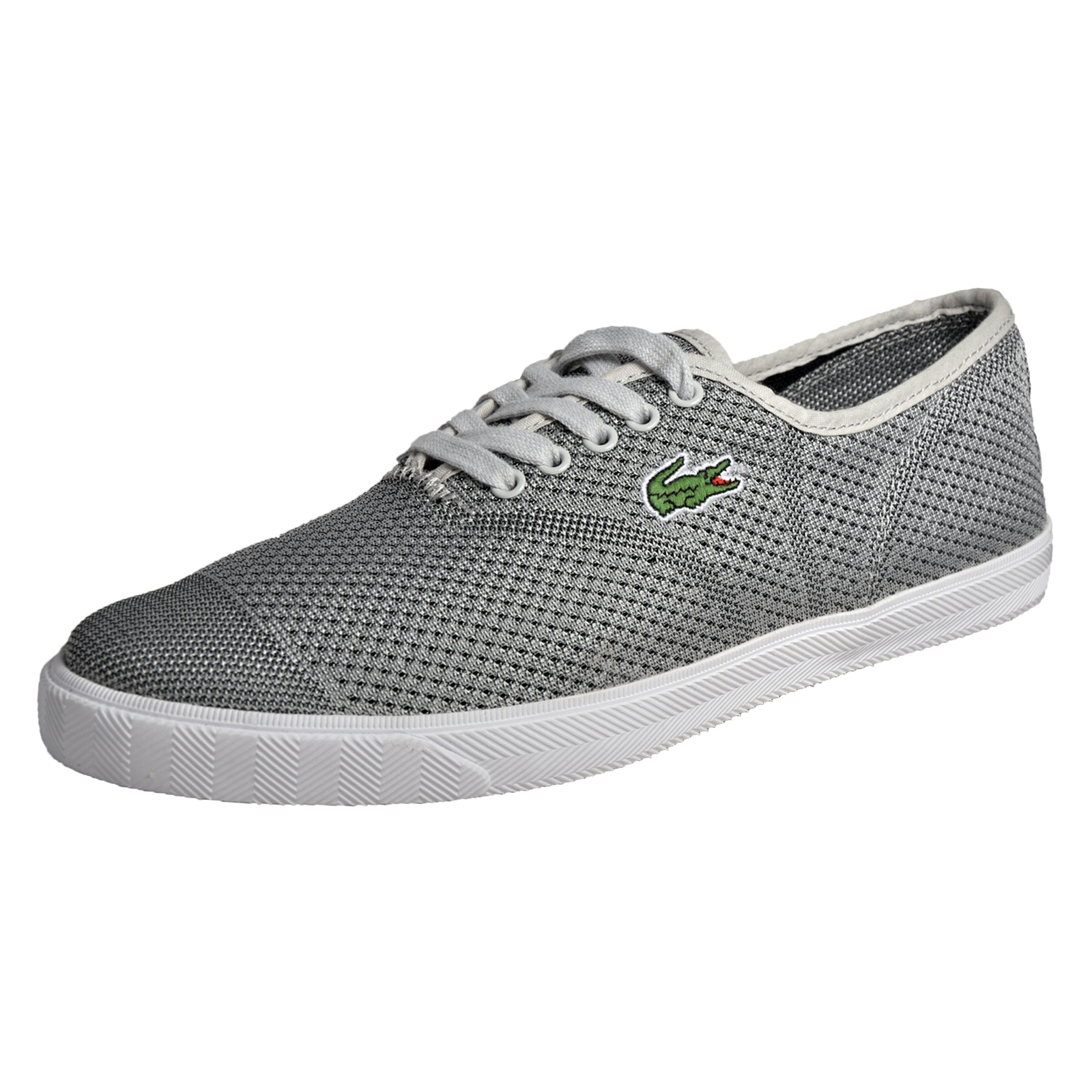 bc9c024b1d66 Details about Lacoste Rene II Mesh Pique Mens Designer Classic Casual  Plimsoll Trainers Silver