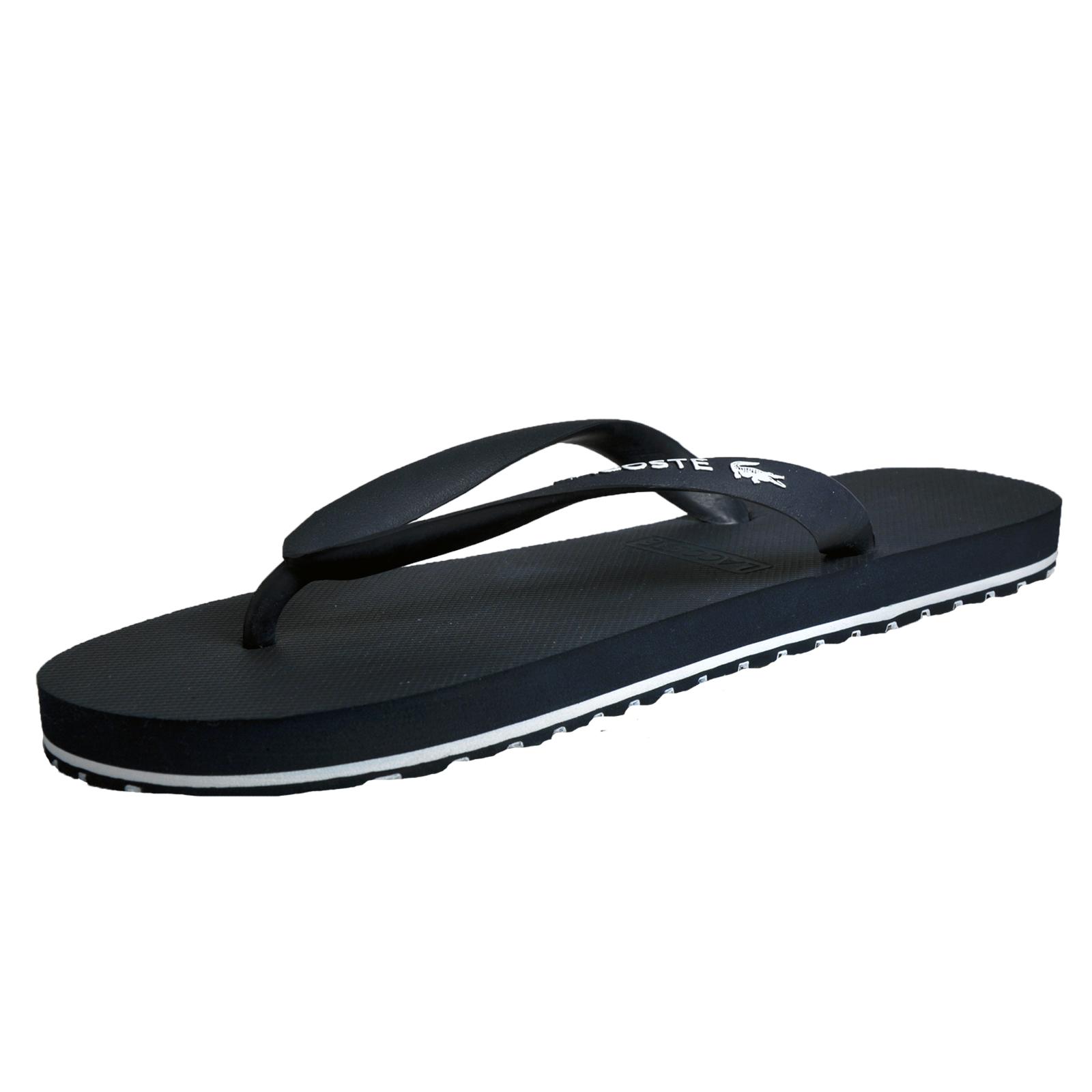 9fa645a5e49108 Details about Lacoste Nosara Mens Premium Designer Flip Flop Holiday Sandals  Navy
