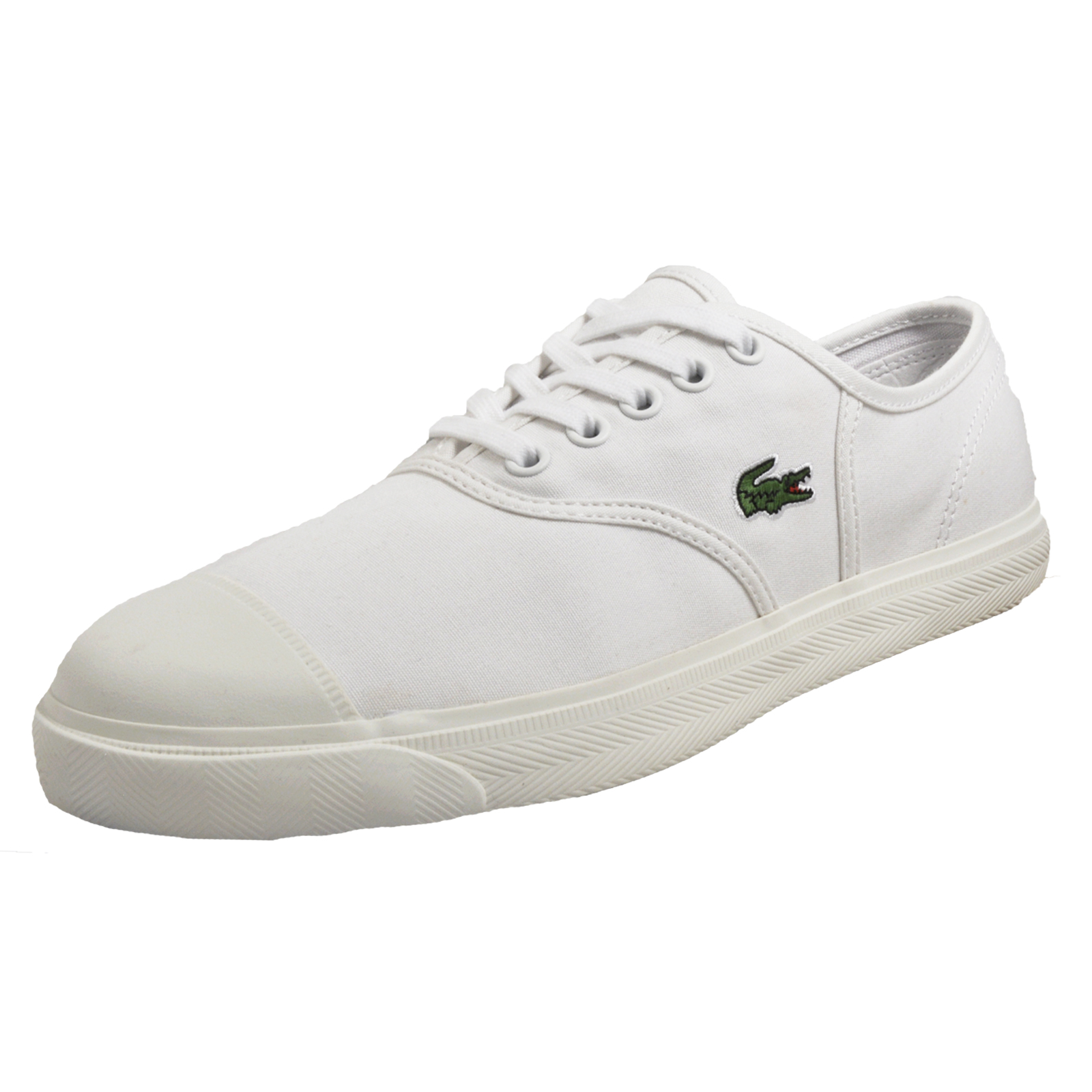 60c47ed47 Details about Lacoste Rene 117 Women s Classic Casual Designer Plimsol  Trainers White B Grade