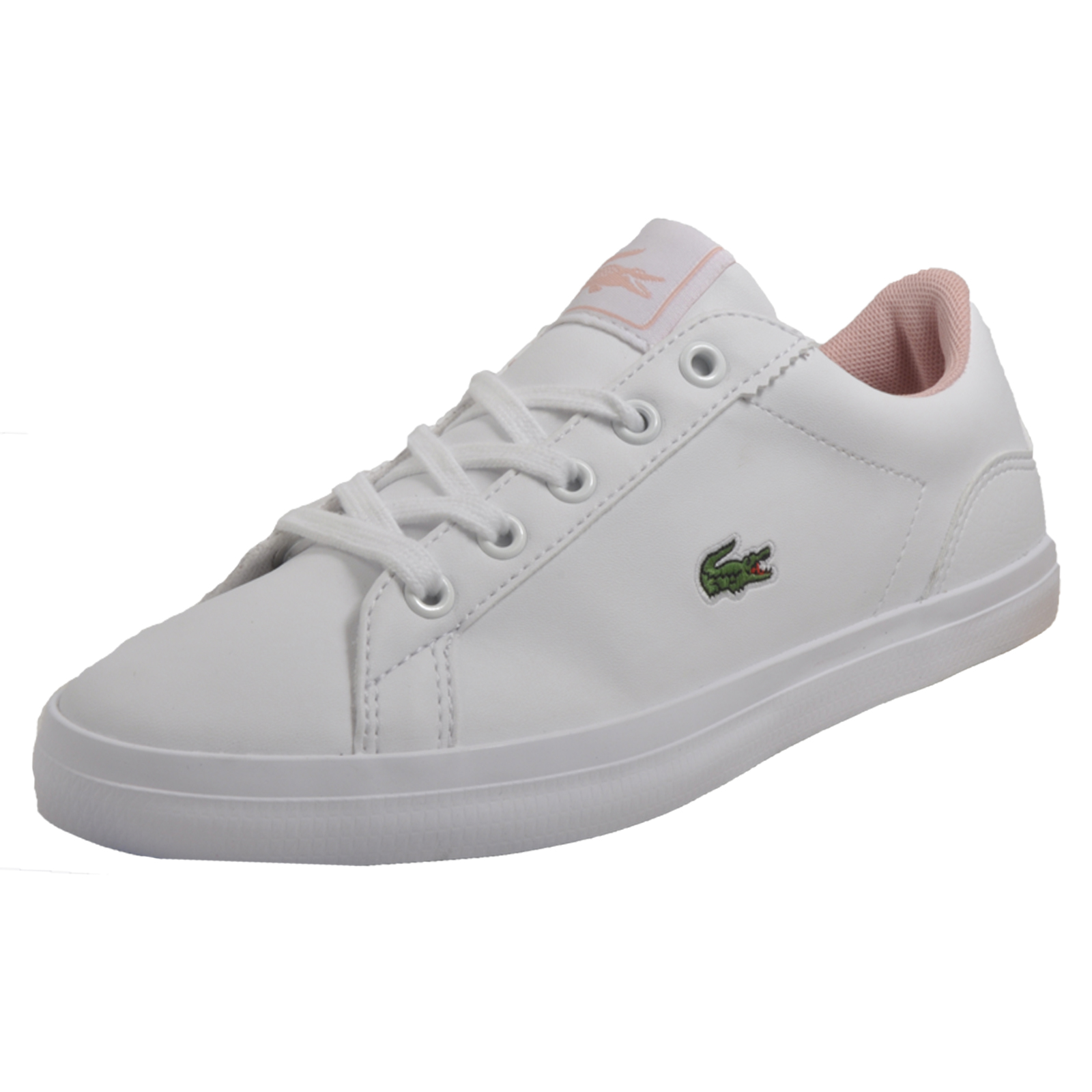 f86a4b5d1 Details about Lacoste Lerond S116 Junior Girls Classic Designer Pumps Flats Trainers  White