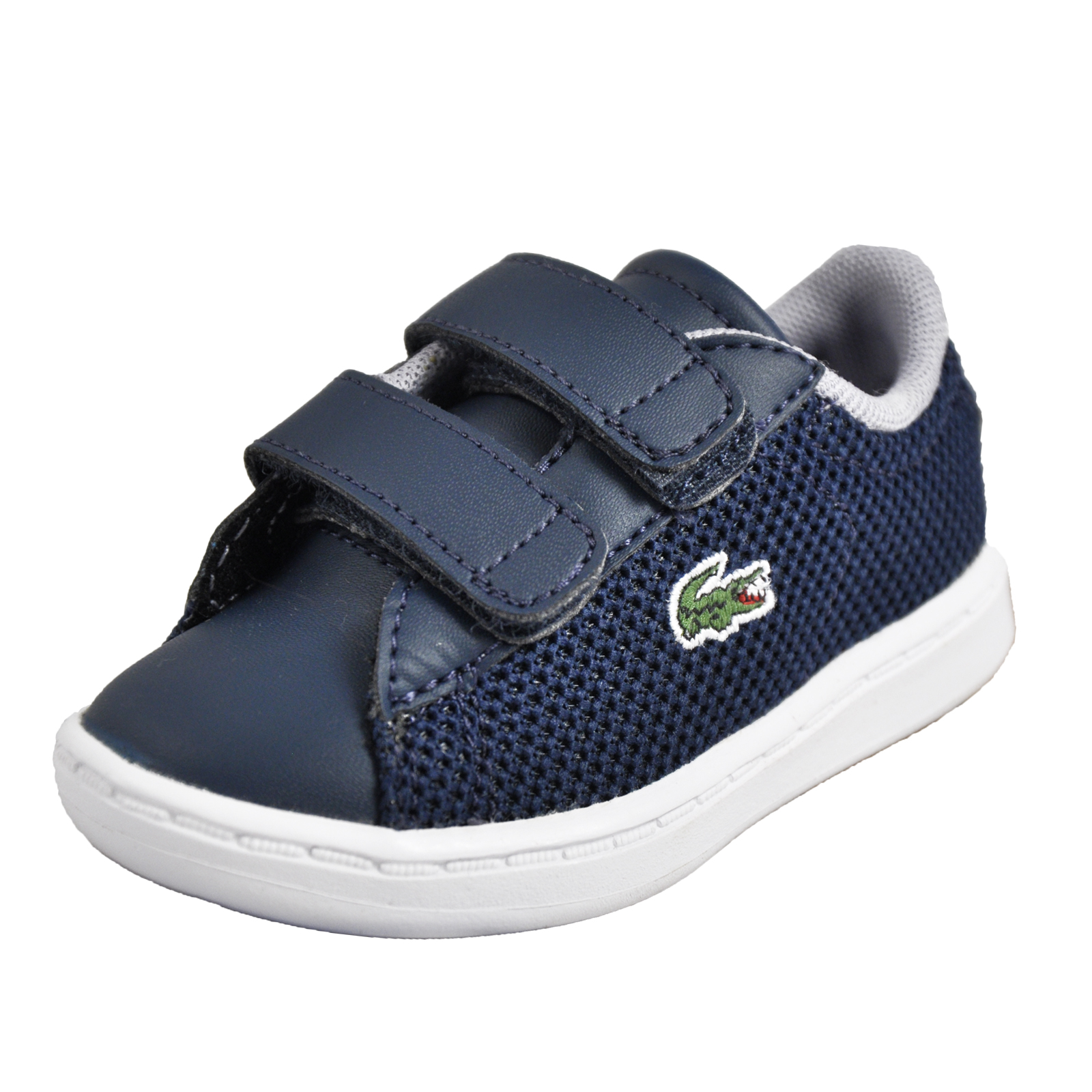f1864b0fc Details about Lacoste Carnaby Evo 117 Infants Toddlers Classic Retro  Designer Trainers Navy