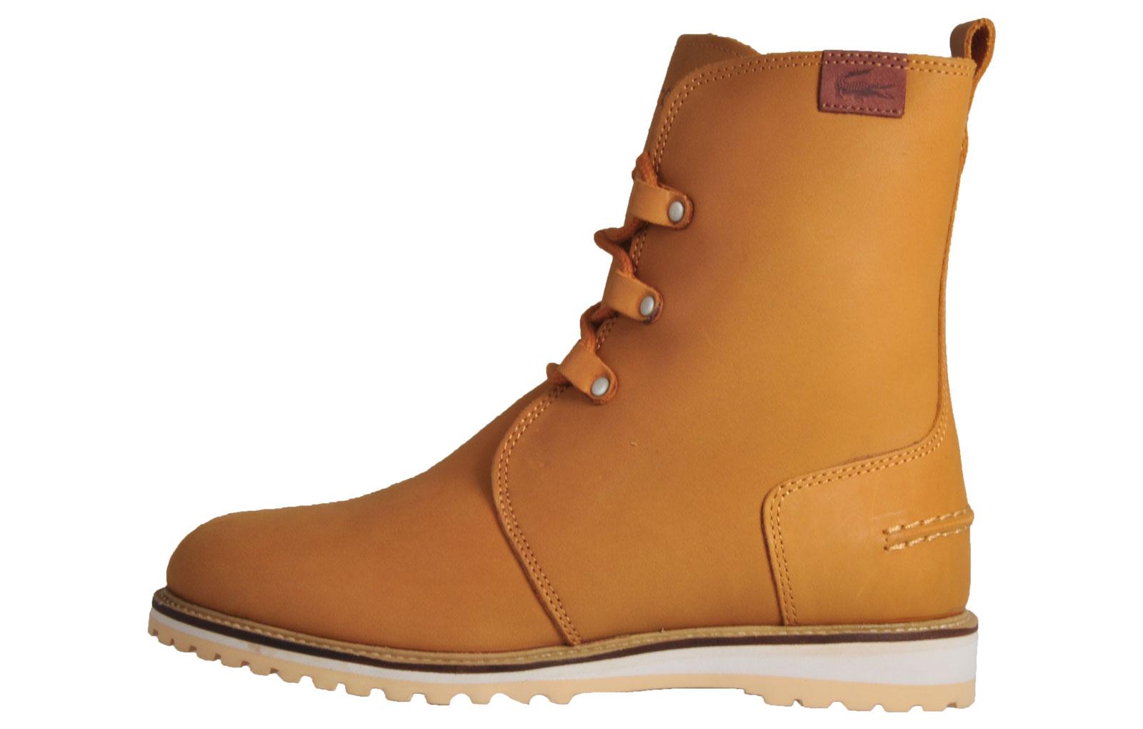 Lacoste Baylen 4 Women's Premium Leather Boots Light Tan B Grade UK 4 Only