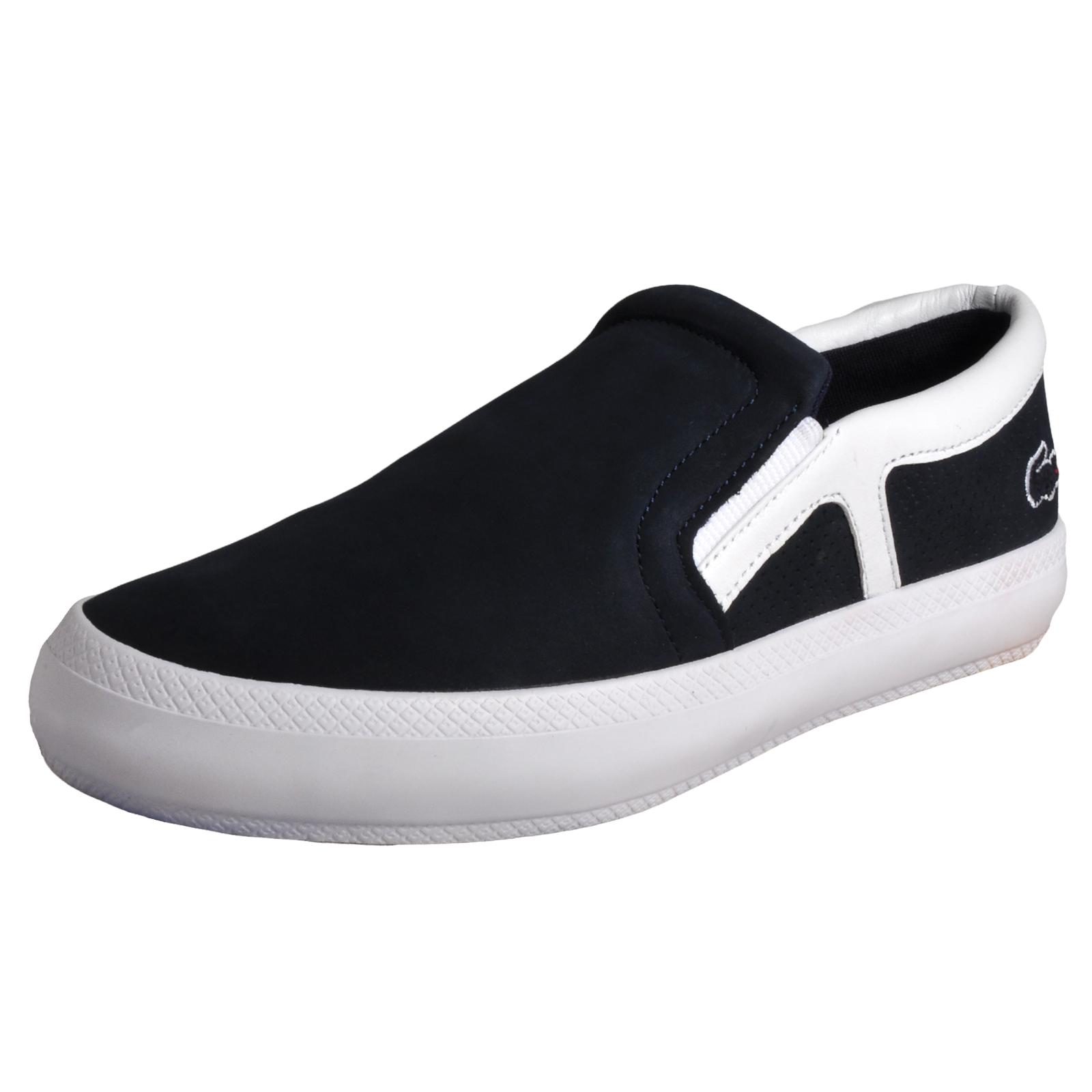 Lacoste Rene Chunky 116 Womens Designer Slip-On Deck Shoes Navy