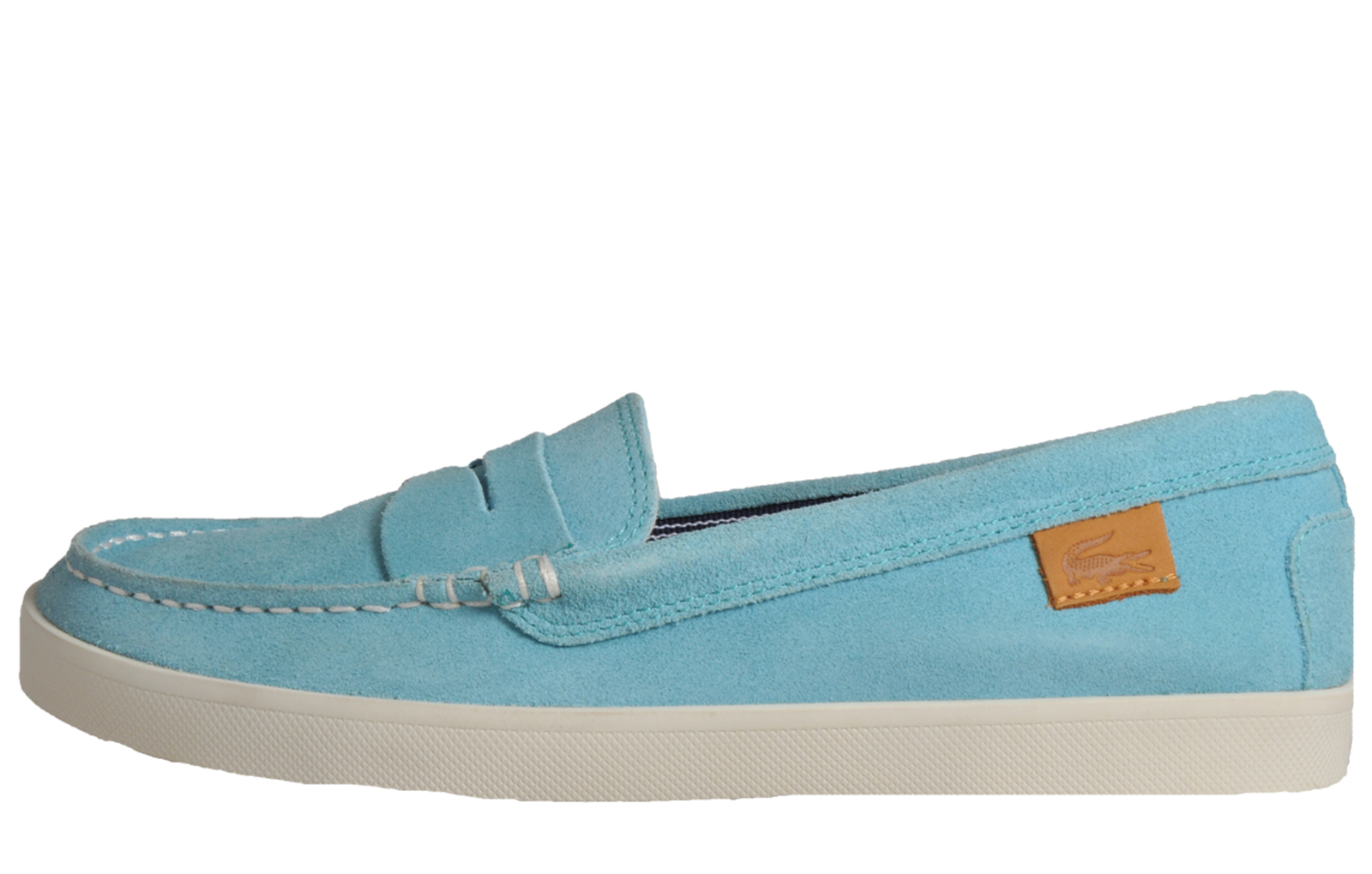 71c1e6655701 Lacoste Korlas 2 Women s Premium Suede Leather Moccasin Loafer Turquoise