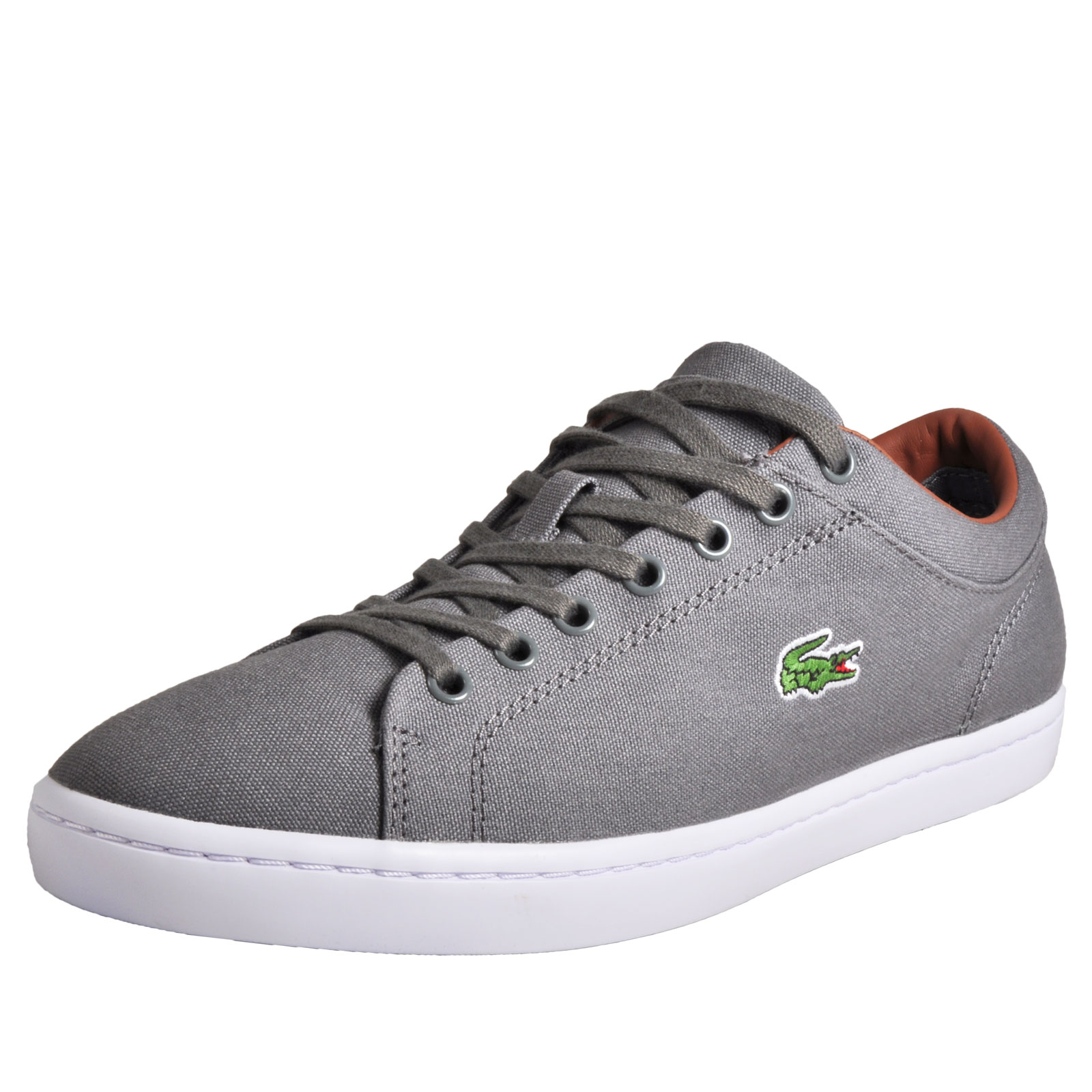 d5496060bf26 Details about Lacoste Straightset Men s Casual Classic Premium Designer  Trainers Grey