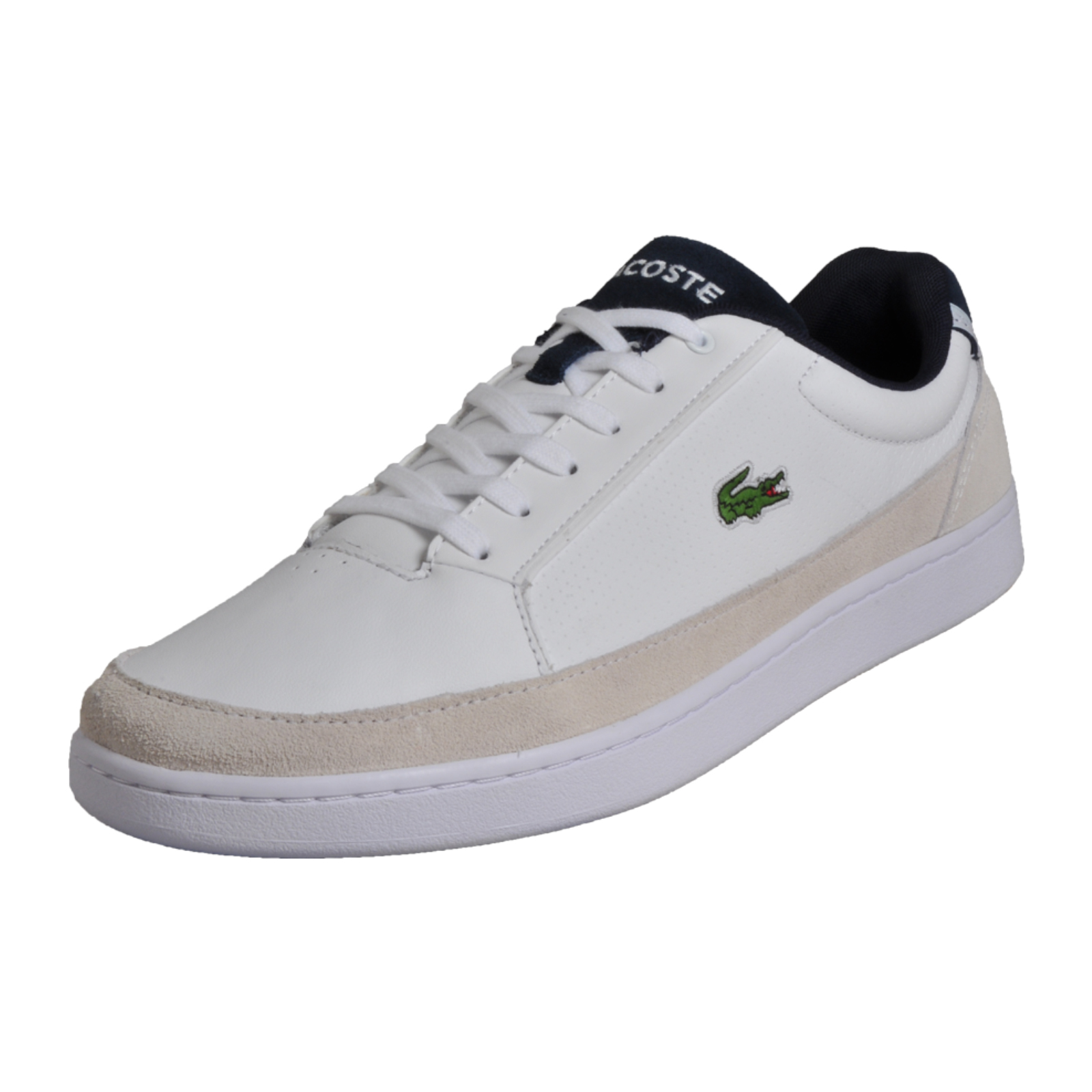 47bd13bc2 Details about Lacoste Setplay 117 Men s Classic Designer Leather Retro  Trainers White