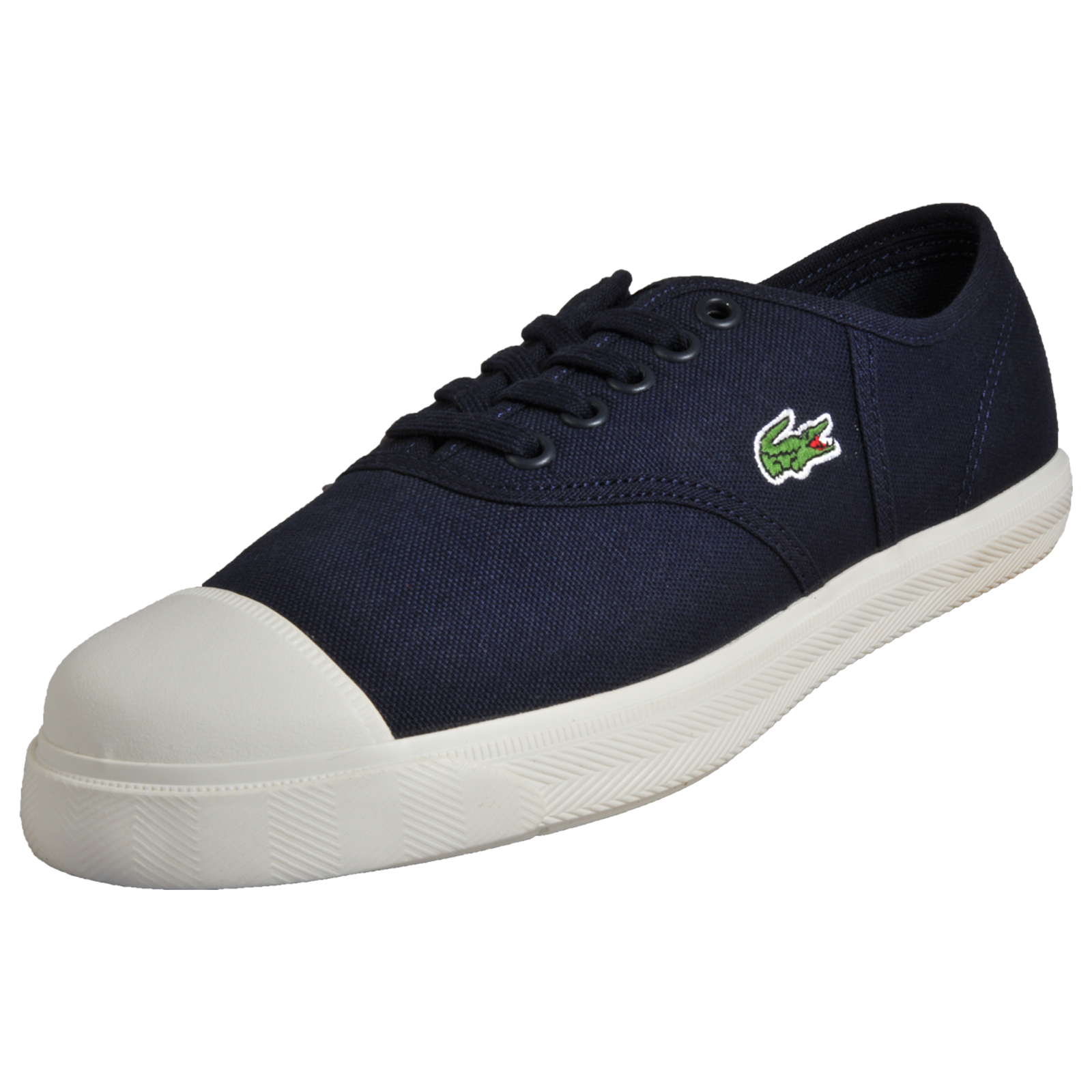 0e1bcb538924 Details about Lacoste Rene 117 Womens Classic Casual Designer Plimsol  Trainers Navy B Grade