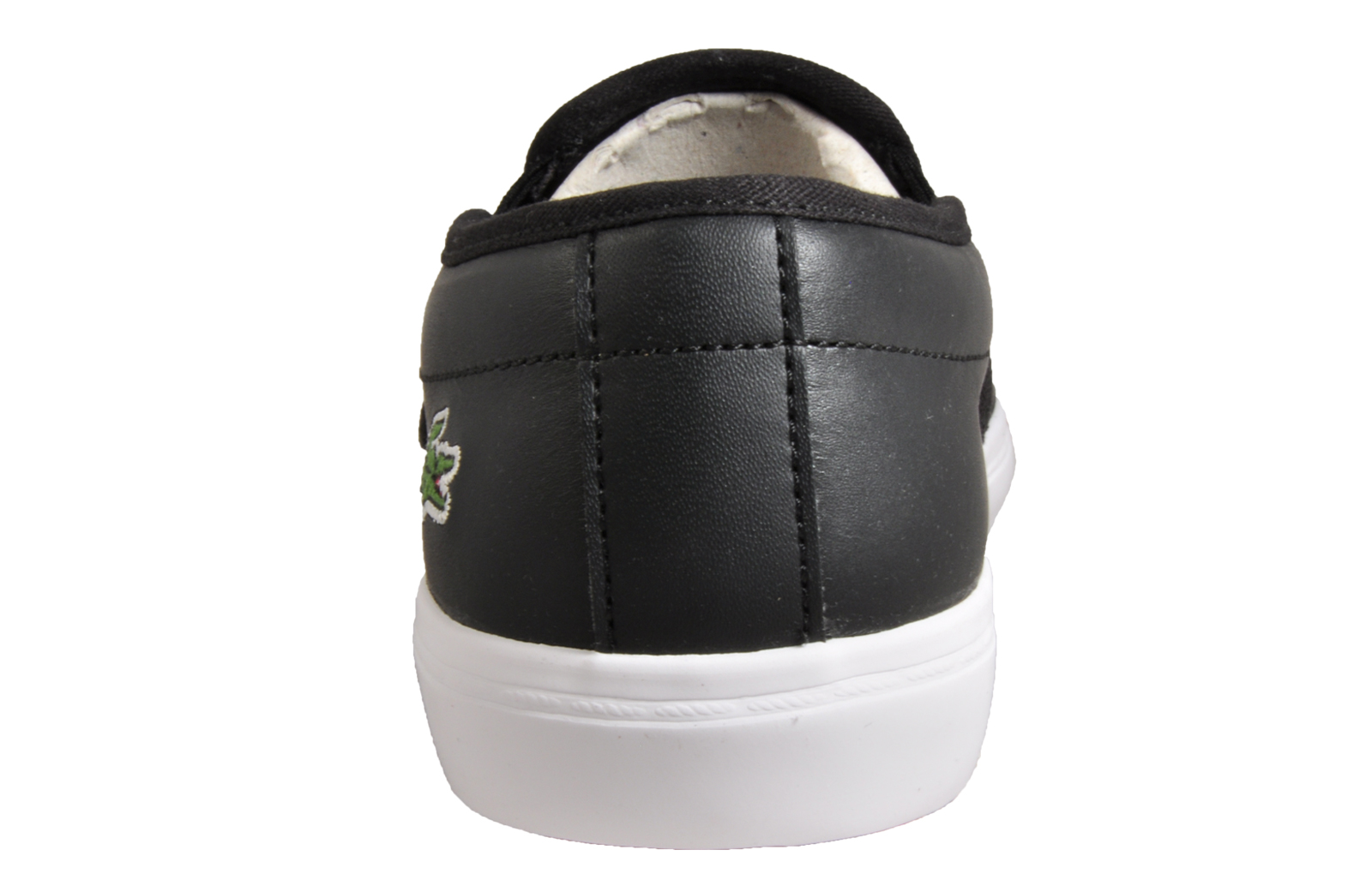 2b65bea5b78c4 Lacoste Gazon BL Womens Slip On Leather Retro Designer Trainers Black B  Grade
