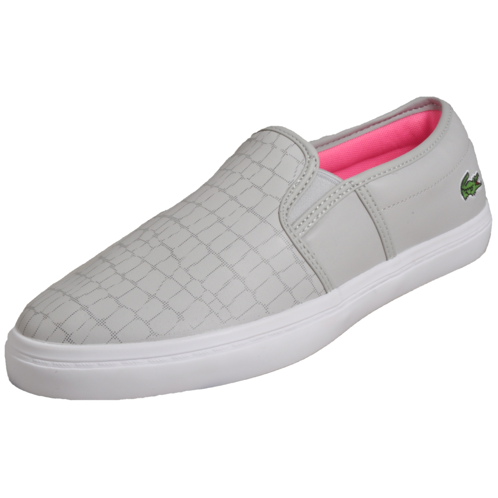 8ad71c435d88d Lacoste Gazon 118 Women s Slip-On Casual Designer Trainers Grey