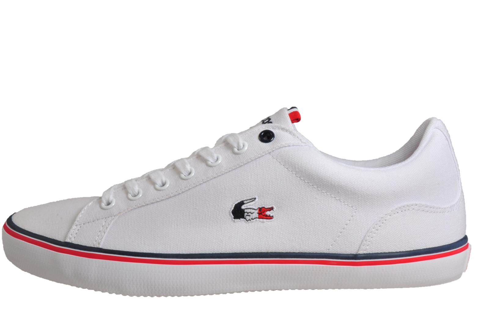 buy popular detailed images release date Details about Lacoste Lerond 218 Mens Classic Vintage Retro Plimsolls  Trainers White B Grade