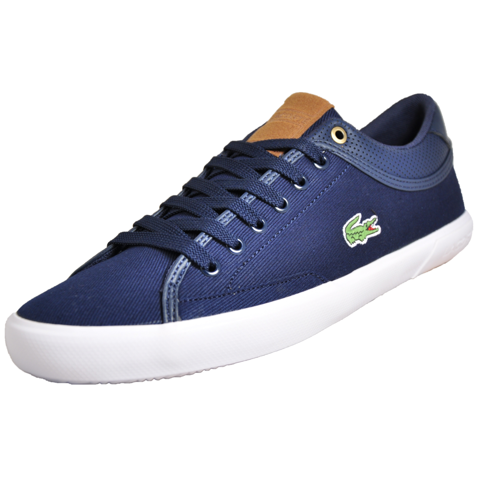 5b5082680851 Details about Lacoste Angha 218 Men s Classic Casual Designer Plimsol Trainers  Navy B Grade