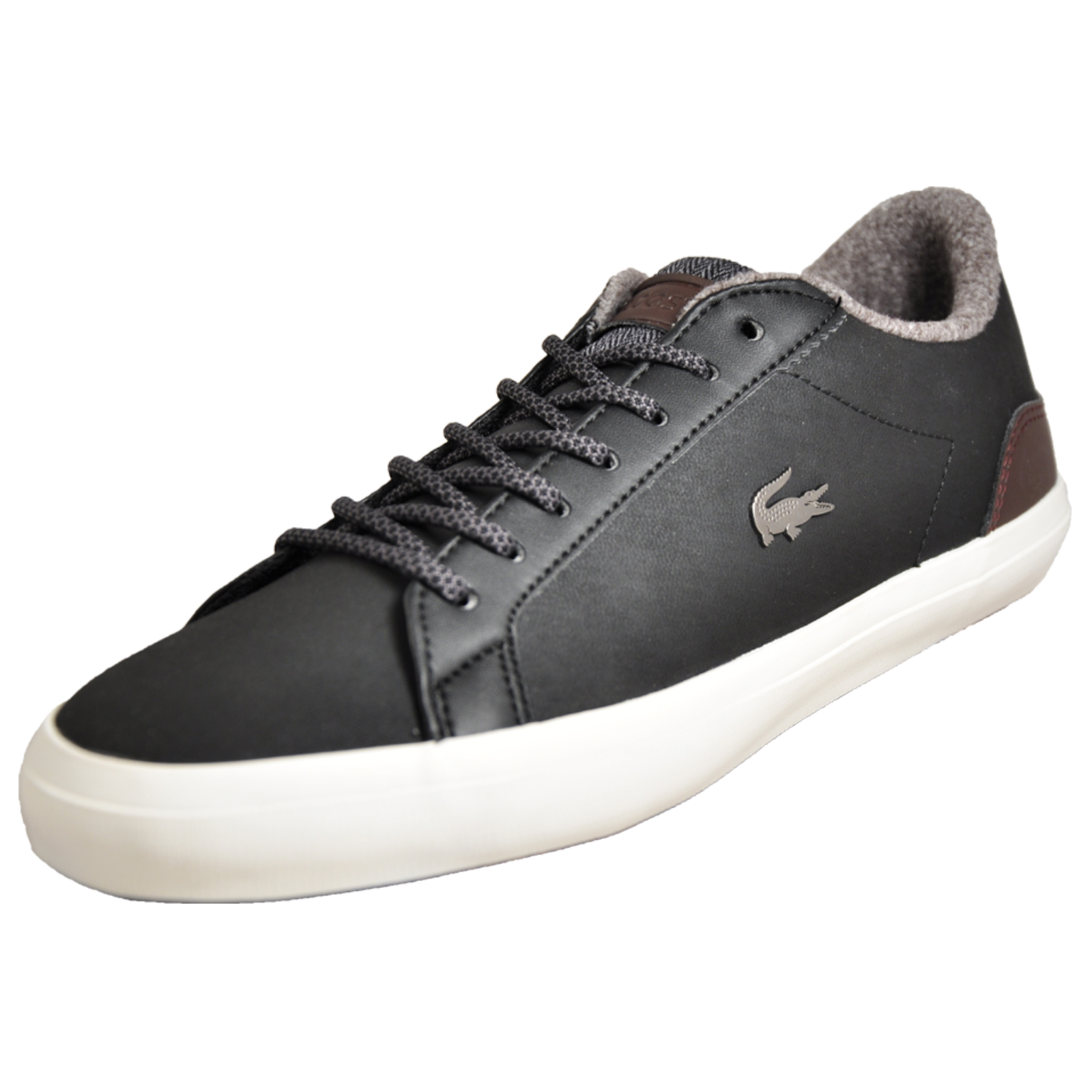 b90714fb Details about Lacoste Lerond Men's Leather Classic Casual Designer Trainers  Black B Grade
