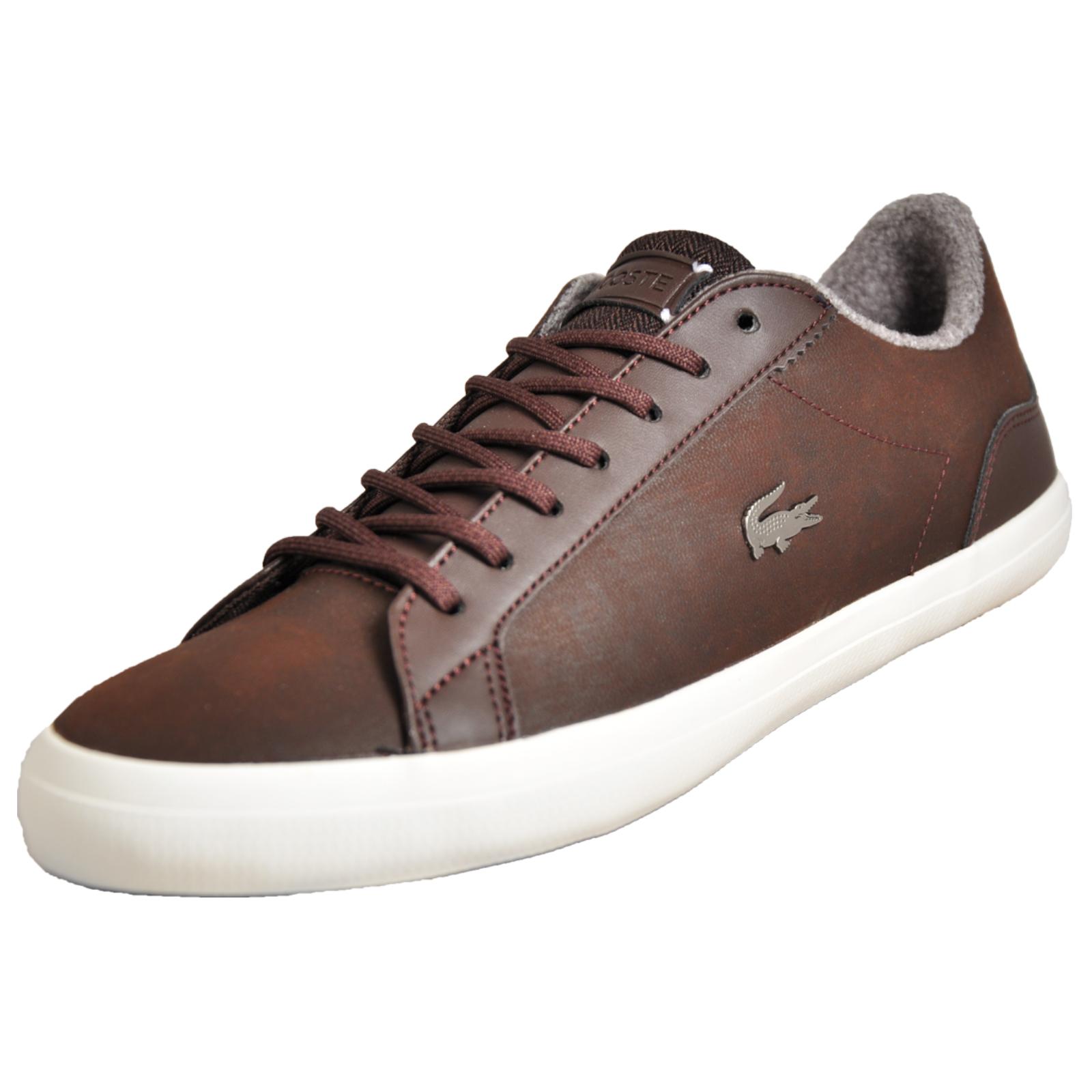 a11b303f42d42d Details about Lacoste Lerond 318 Men s Leather Classic Casual Retro  Designer Trainers Brown B