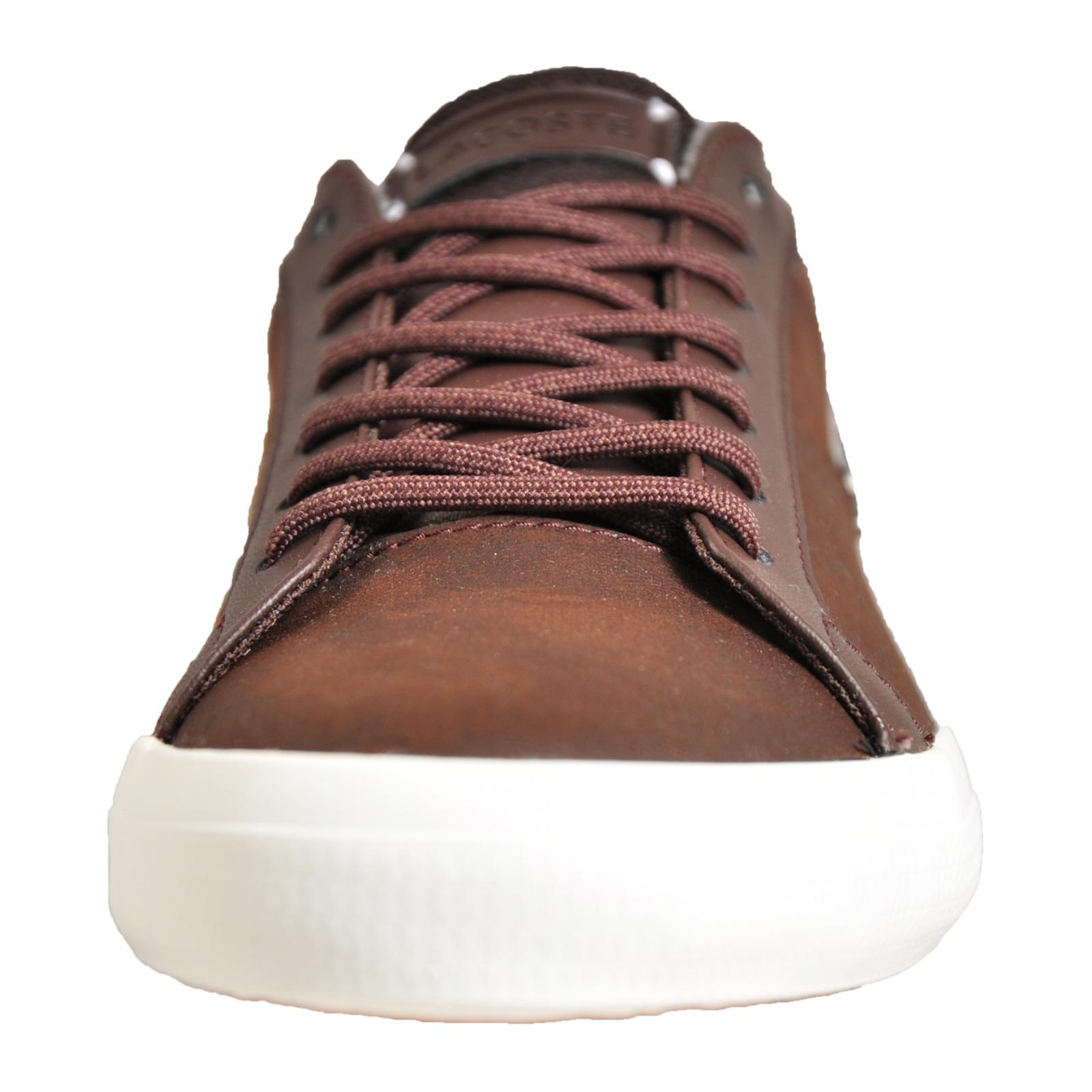 5ee4bc9fc Lacoste Lerond 318 Men s Leather Classic Casual Retro Designer Trainers  Brown B Grade