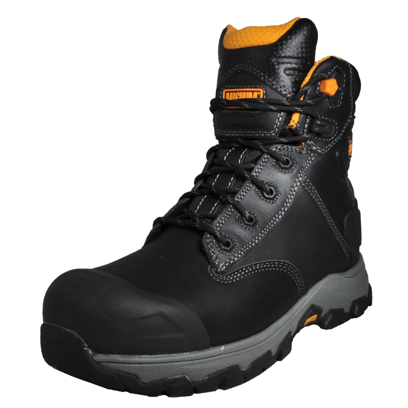 Magnum Hamburg 6.0 Men's Leather Waterproof S3 SRC-Rated Safety Work Boots  Black