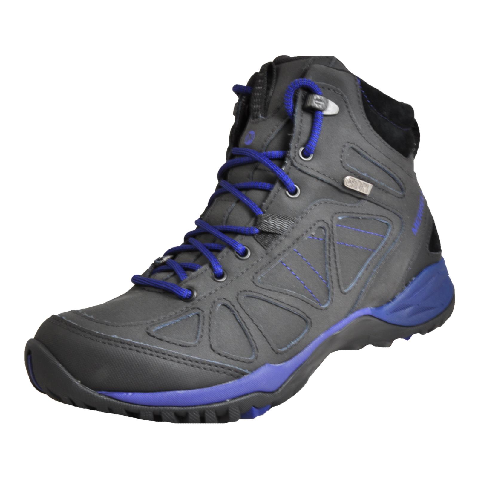 a9b4f0853249 Merrell Siren Q2 Waterproof Mid Women s Outdoor Hiking Walking Boots Black