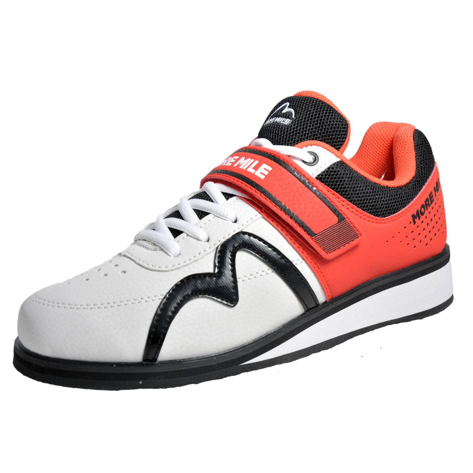 6db3ae676b356a Details about More Mile Mens Weightlifting Shoes Cross Training Gym  Trainers White Red