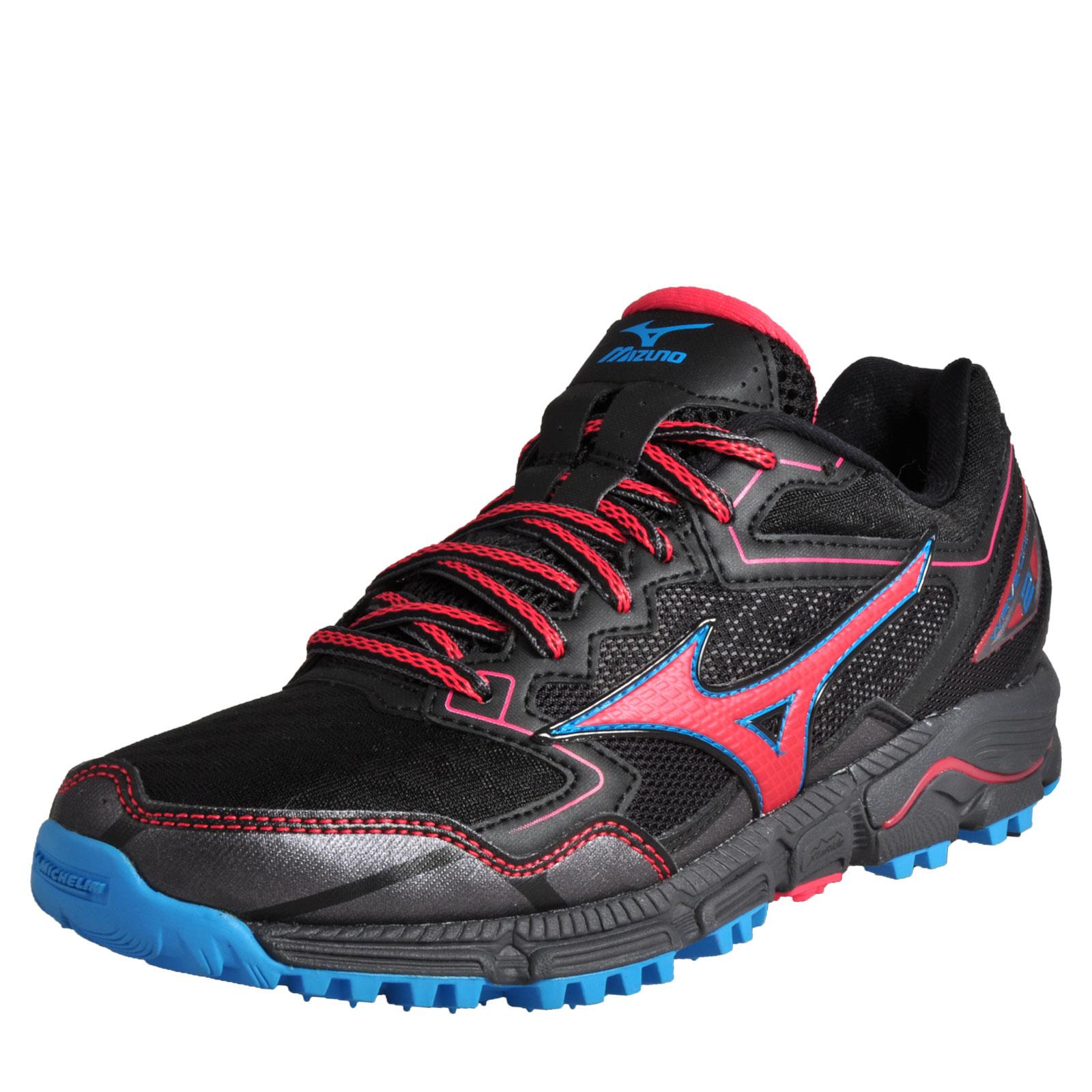 half off 5d9cb eea3c Details about Mizuno Wave Daichi 2 Womens Premium All Terrain Off Road  Running Shoes Black