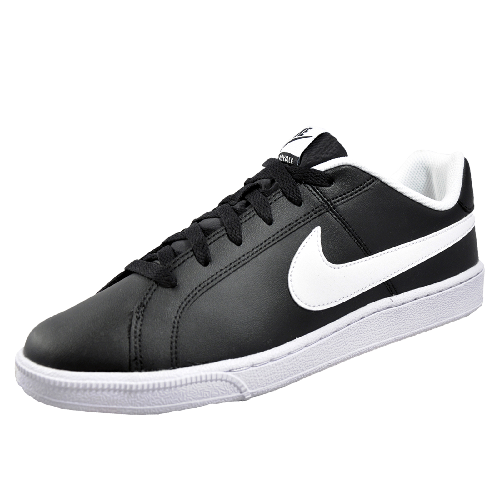Nike Mens Court Royal Black White Leather Trainers 45.5 EU tnpmOrzs