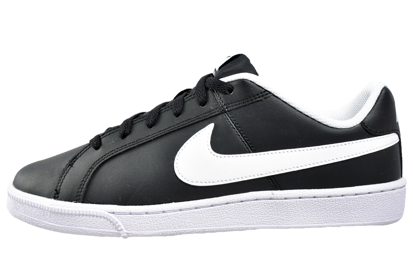 5704252303f572 Details about Nike Court Royale Mens Classic Retro Leather Trainers Black  New 2016