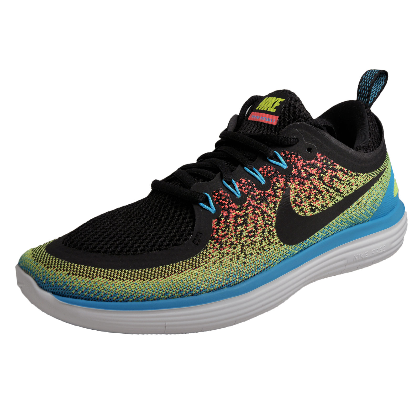 7a373bfb21d0 Details about Nike Free Run Distance 2 Mens Running Shoes Fitness Trainers  Black