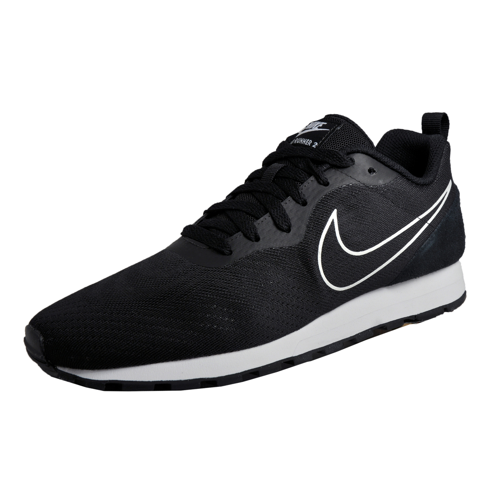 promo code a56ba fedb8 Details about Nike MD Runner 2 Eng Mesh Mens Classic Casual Retro Trainers  Black