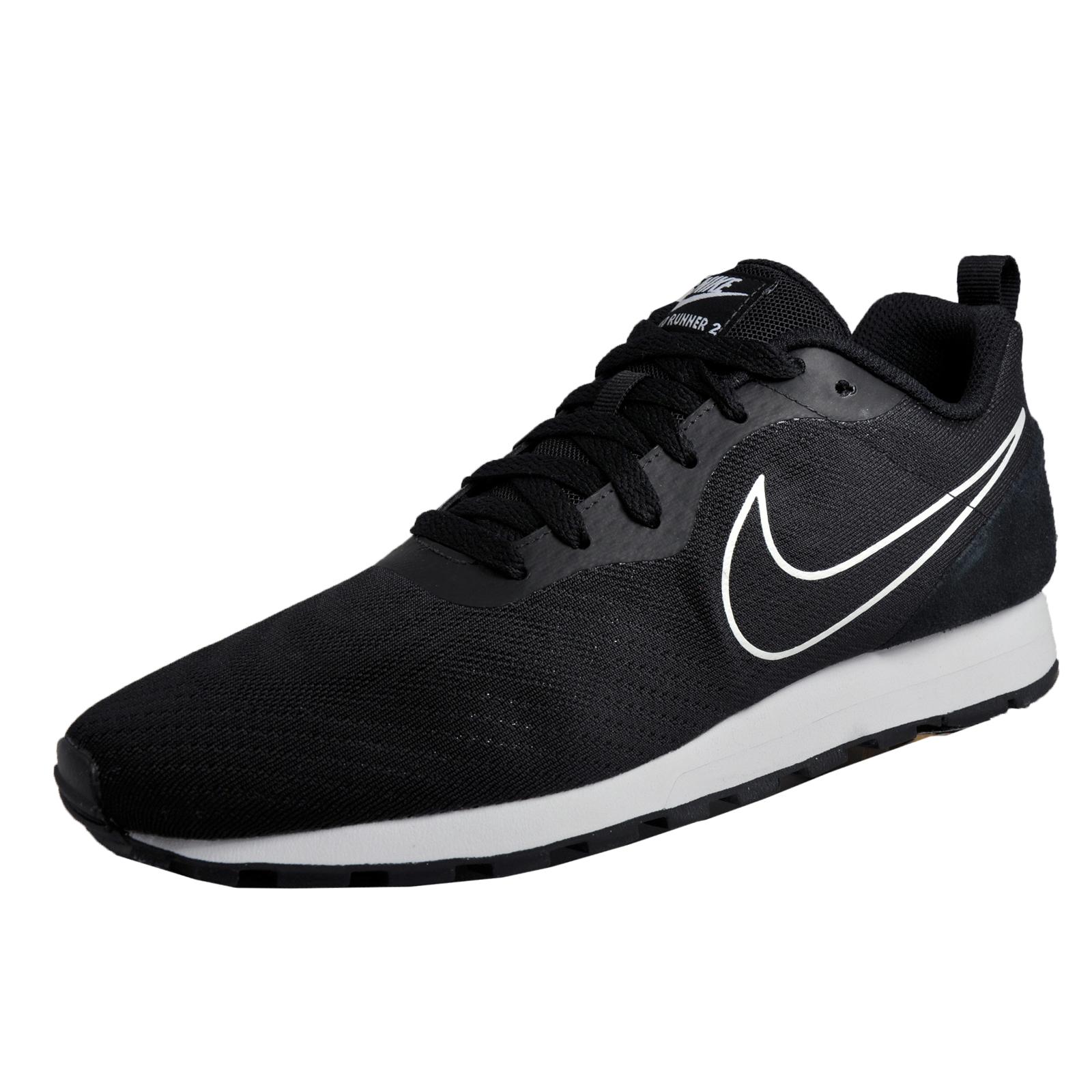 Mens Md Runner 2 Fre Des Chaussures De Course De Compétition De Maille, Noir (noir / Noir / Blanc 008), 6 Fr 40 Eu Nike