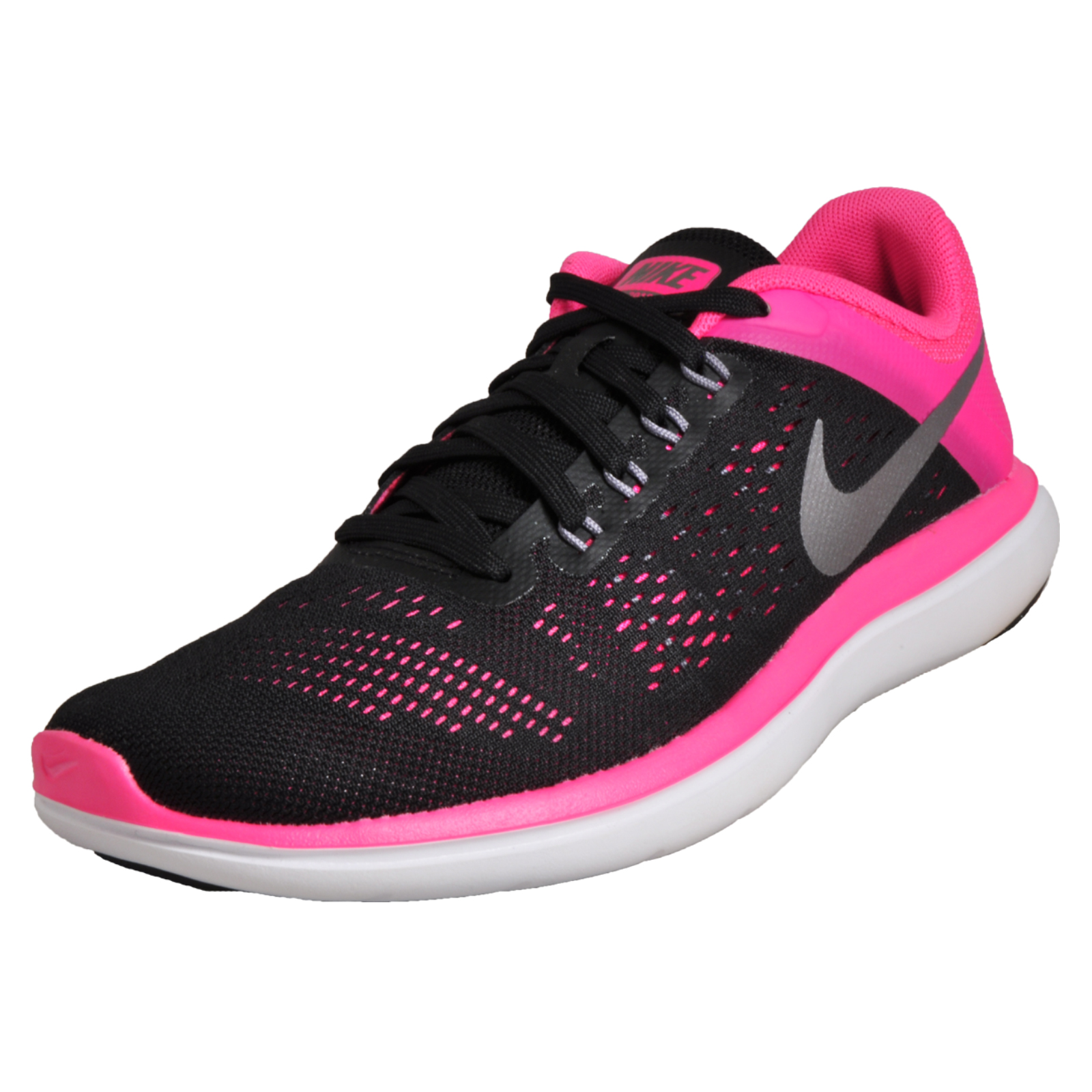 d8827994c574 Details about Nike Flex Women s Running Shoes Fitness Gym Trainers Black  Pink