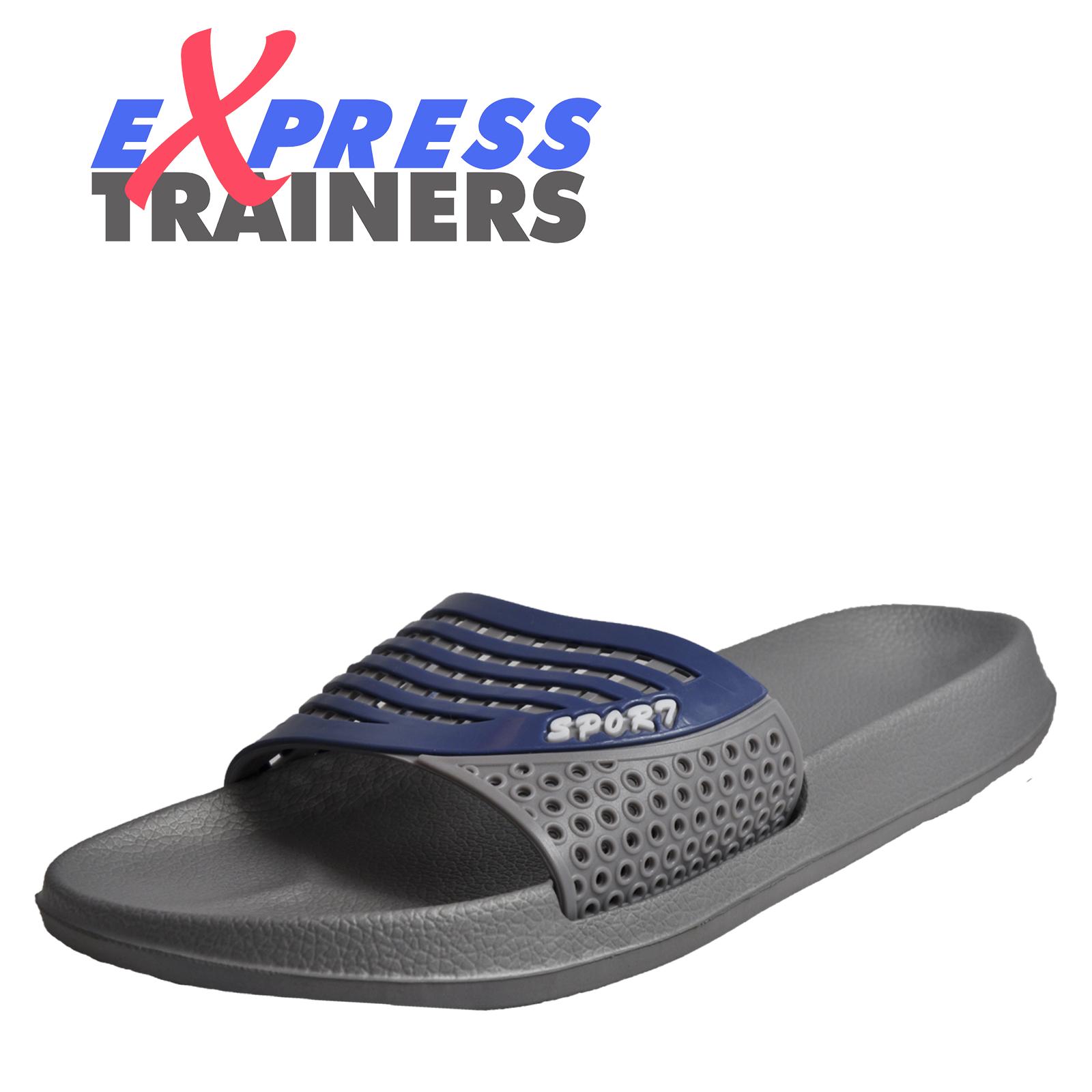 1097f367fdad Details about Premier Mens EEZEE Superlite Slides Beach Flip Flops Shower  Sandals Grey