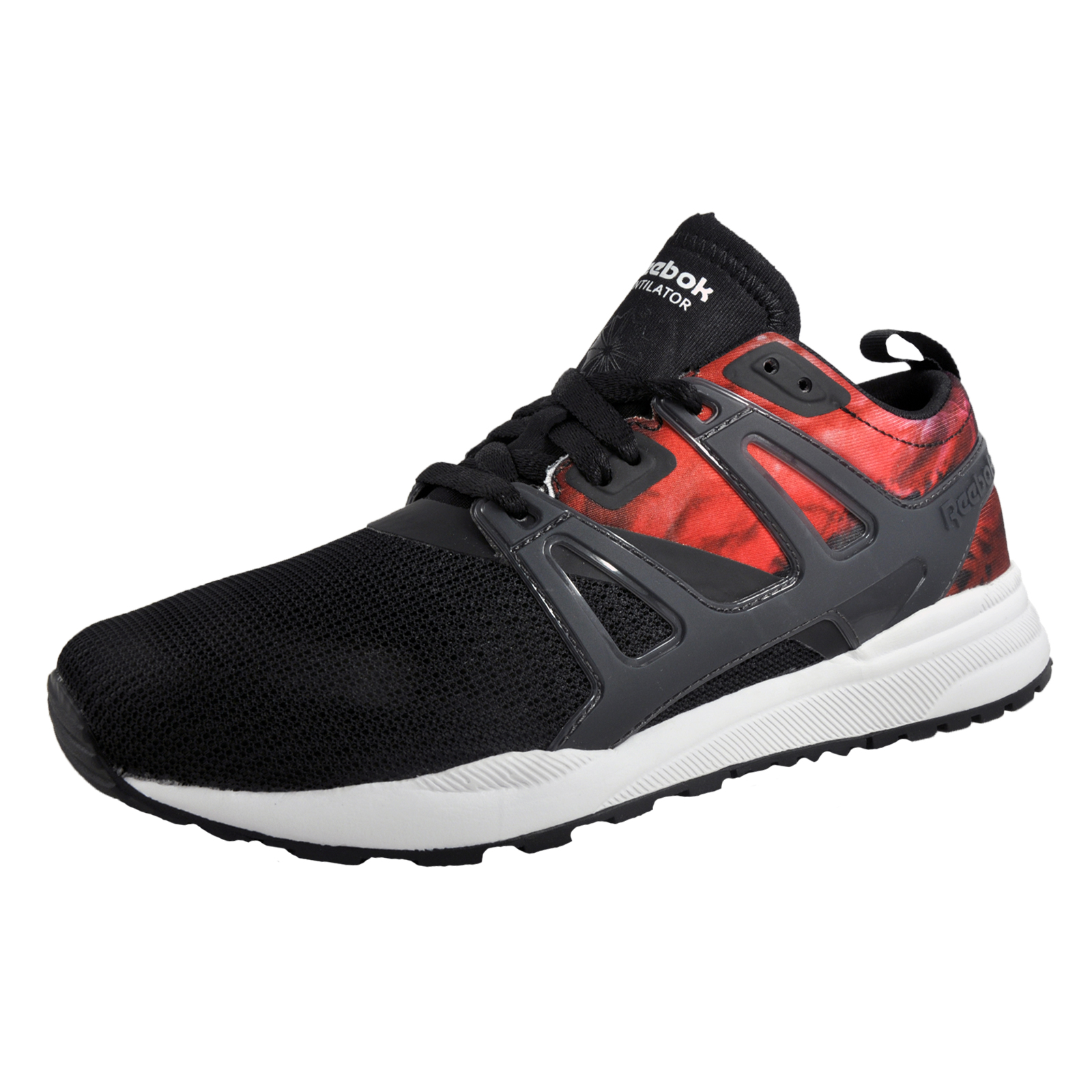 54650efb575860 Details about Reebok Ventilator Adapt Graphic Womens Classic Casual Retro  Black Trainers