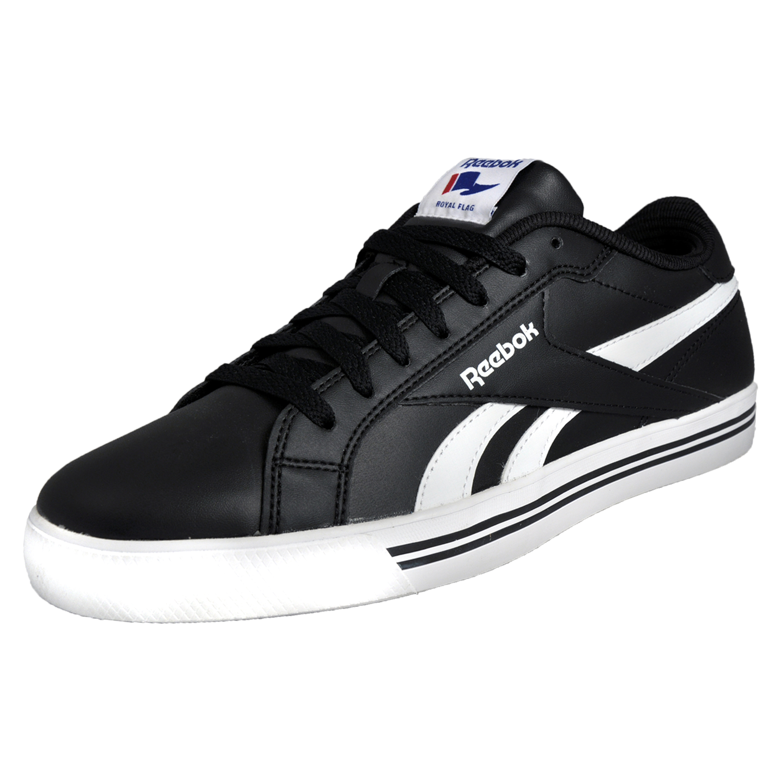 c66fffa5956 Details about Reebok Royal Complete Low 8.5 Men s Classic Causal Retro  Trainers Black