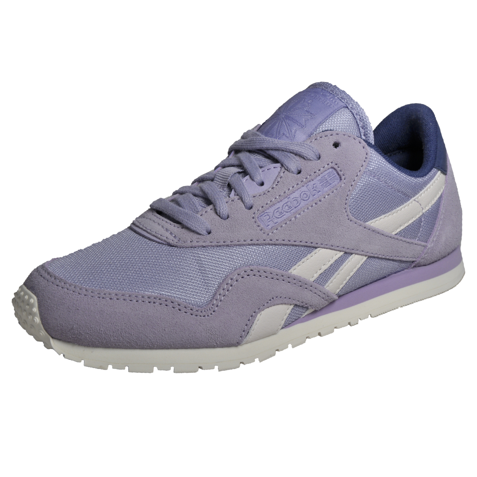 737d8cfbd4b Reebok Classic Nylon Slim Core Women s Casual Retro Trainers Violet Purple
