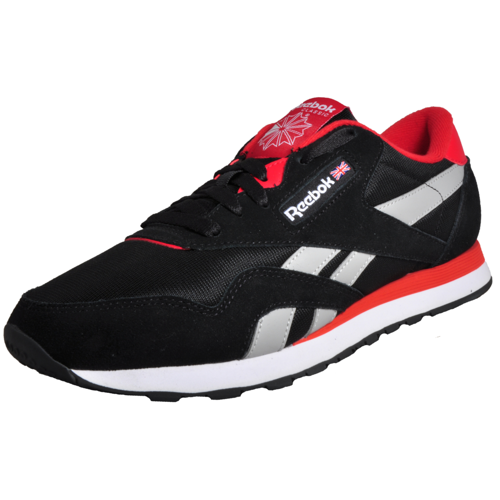 d1f1d941461a32 Details about Reebok Classic Nylon TS Uni Fashion Fitness Casual Trainers  Black