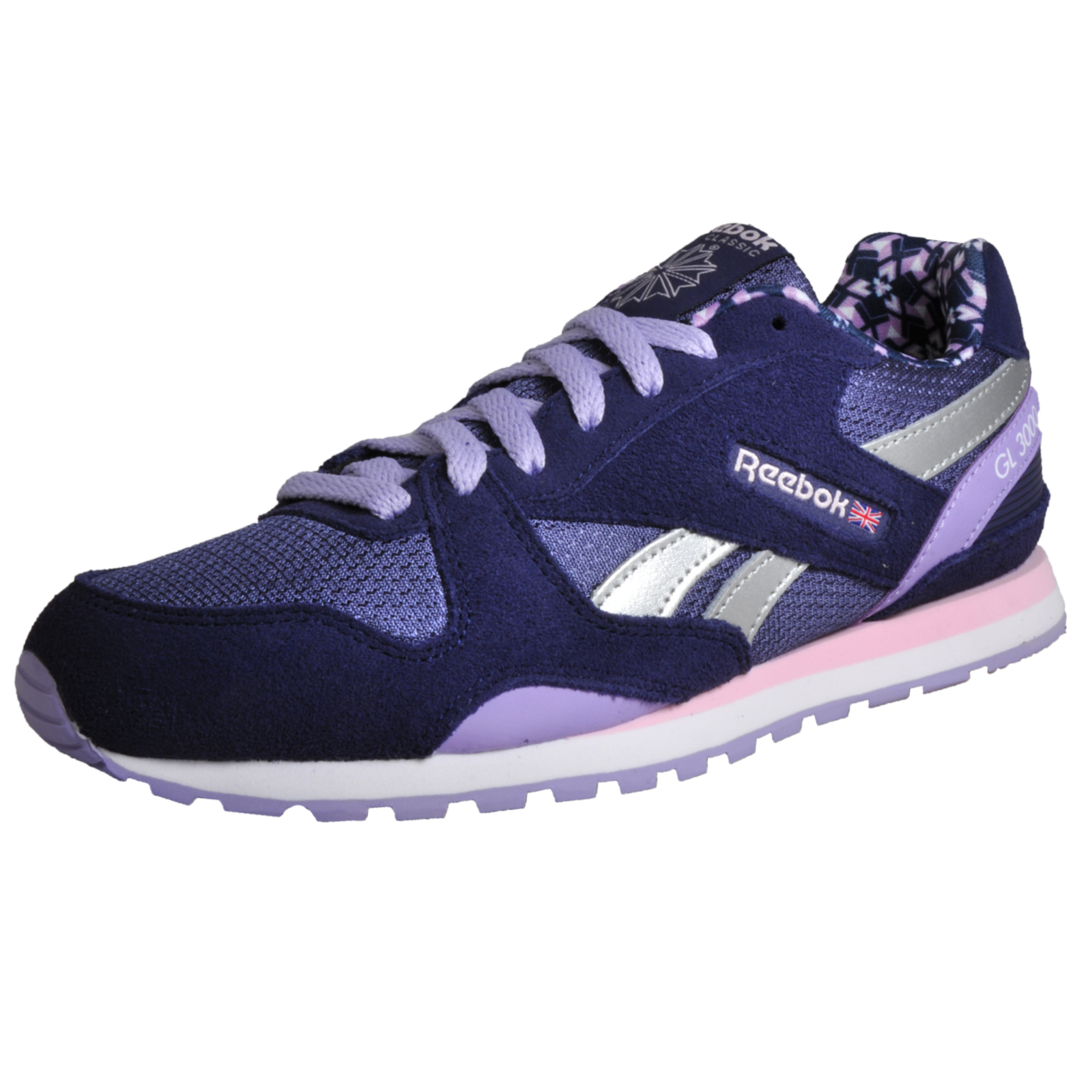Details about Reebok Classic GL 3000 Women s Girls Casual Retro Fashion  Trainers Blue 208aa9c90b