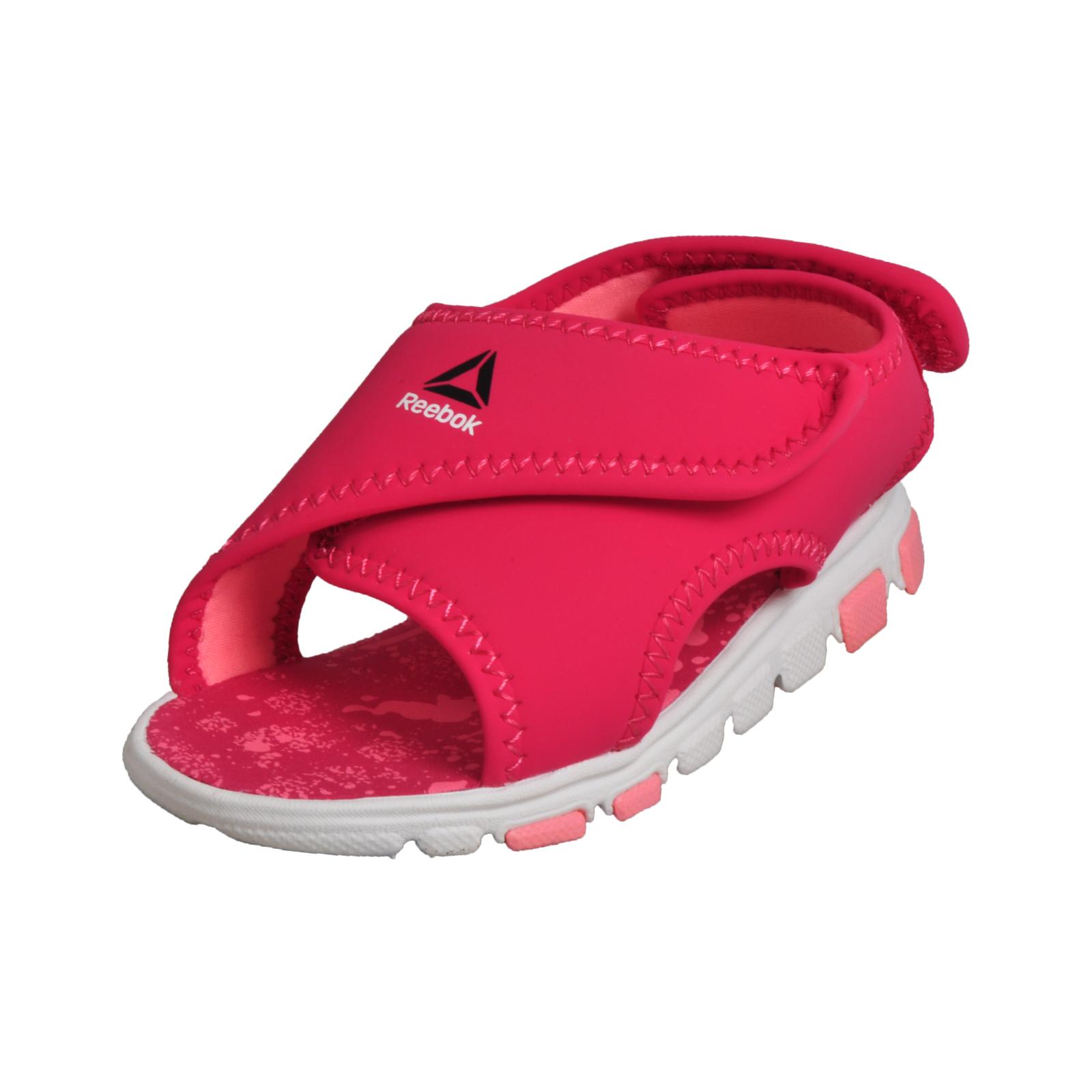 5b62cbe4d124 Details about Reebok Wave Glider Girls Infants Toddlers Summer Sandals Pink