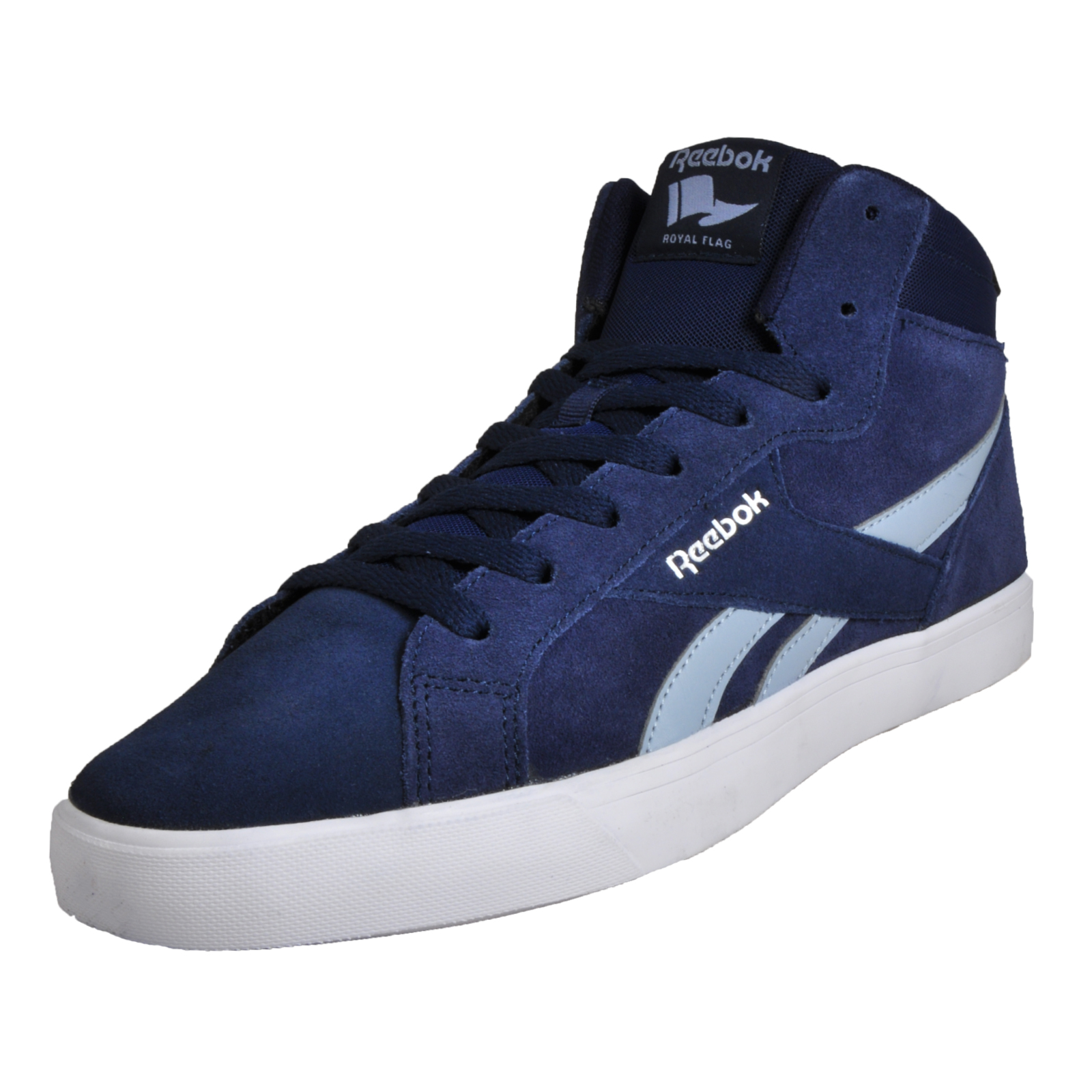 c5dee4ccb6d1 Details about Reebok Royal Complete 2MS Classic Men s Causal Fashion Retro  Mid Trainers Navy