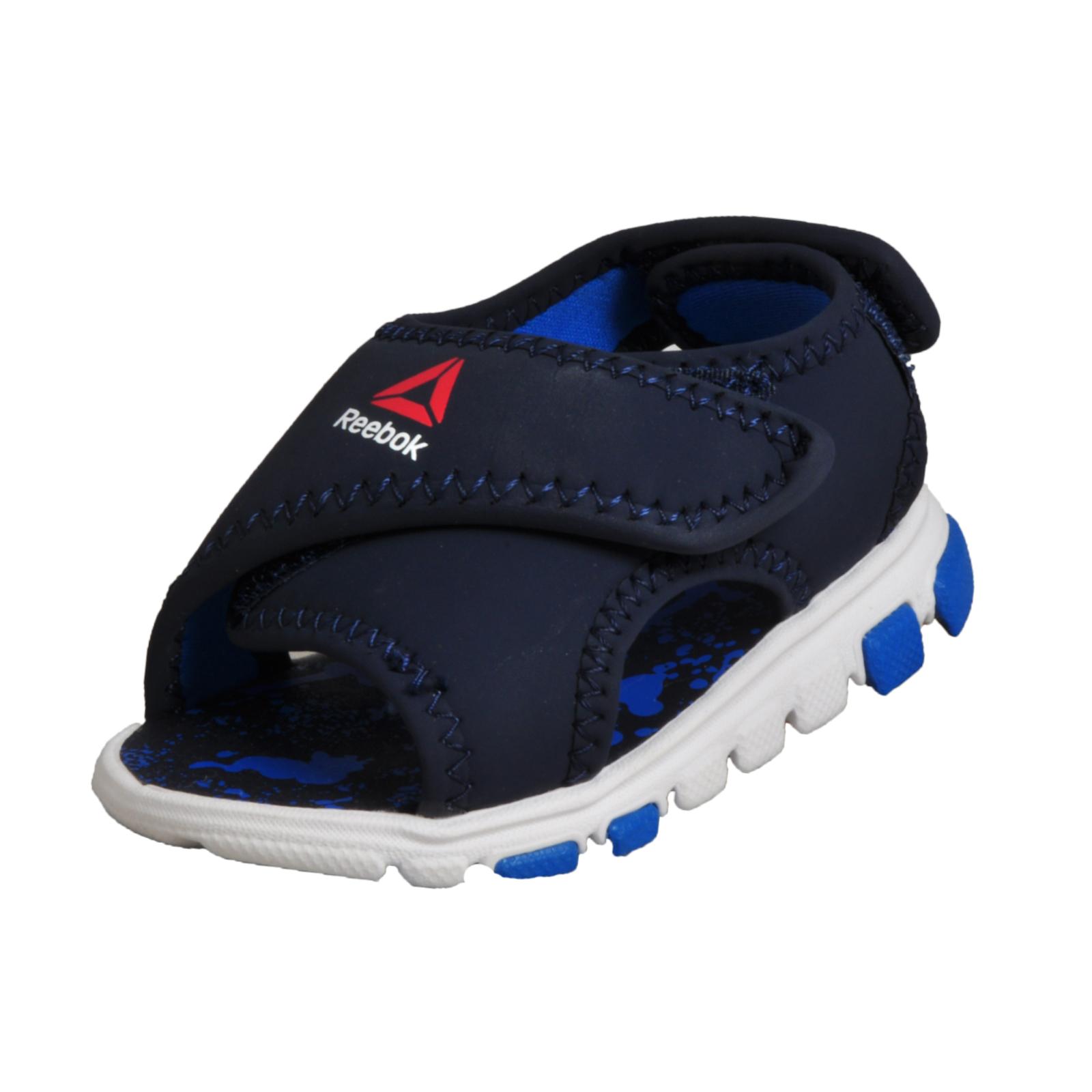 ae6258b5c Details about Reebok Wave Glider Babies Infants Toddlers Summer Sandal Navy