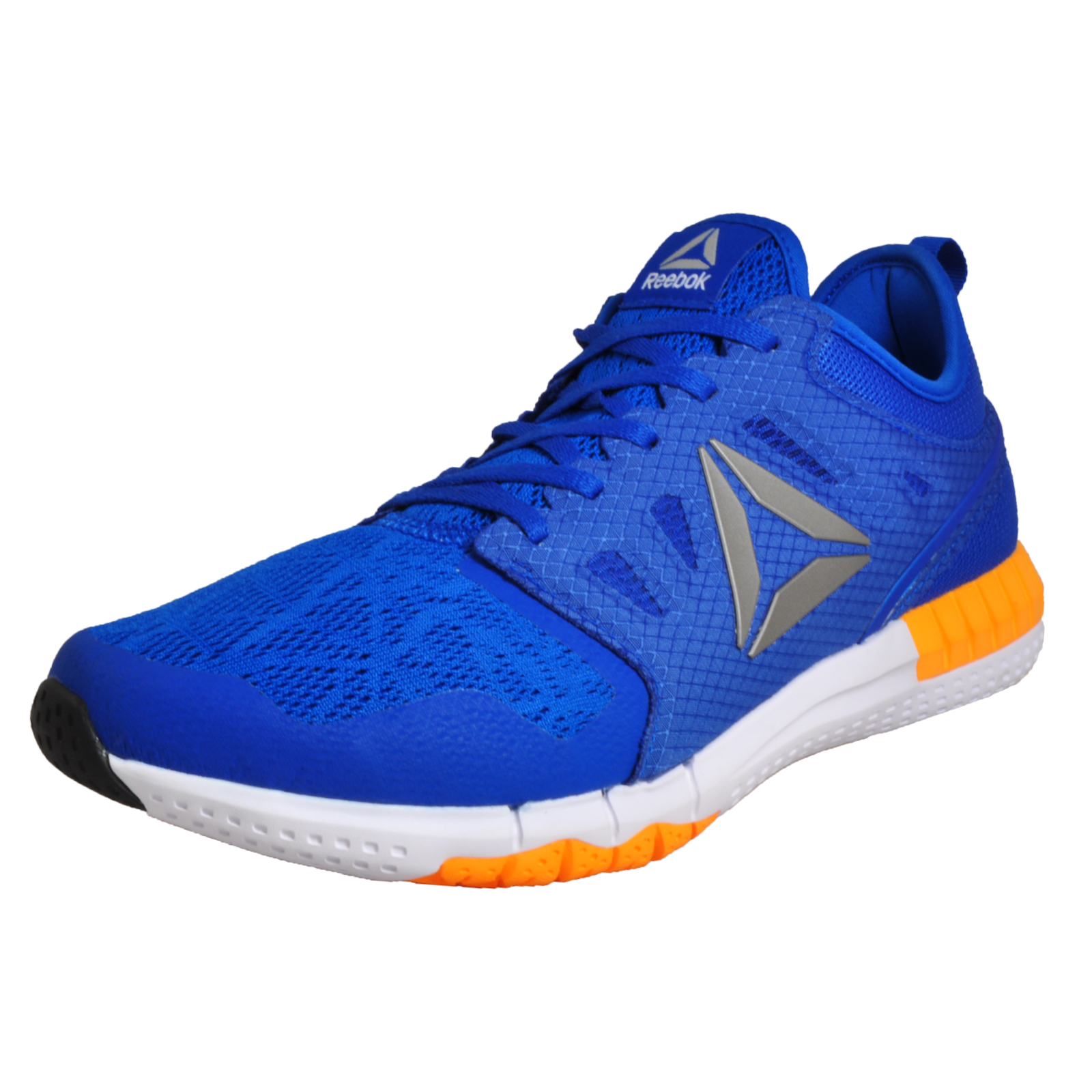 b019b08ed25f04 Details about Reebok Zprint 3D Mens Running Shoes Gym Fitness Trainers Blue