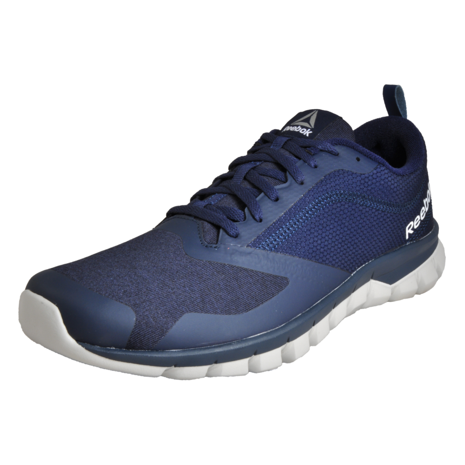 0cad6571c94 Details about Reebok Sublite Authentic 4.0 Mens Running Shoes Fitness Gym  Trainers Navy