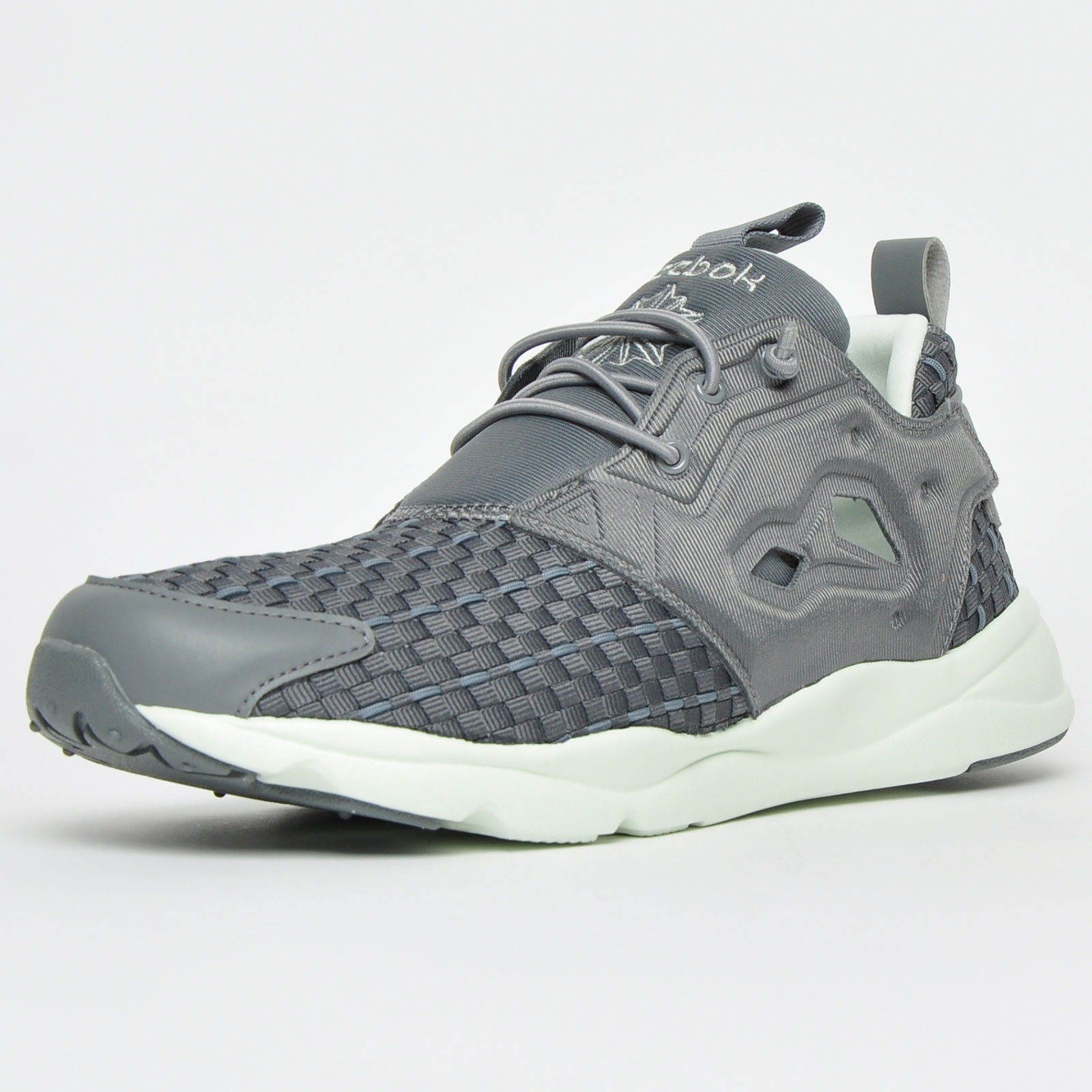 Details about Reebok Classic FuryLite New Woven Womens Fitness Gym Trainers  Grey c8968524a