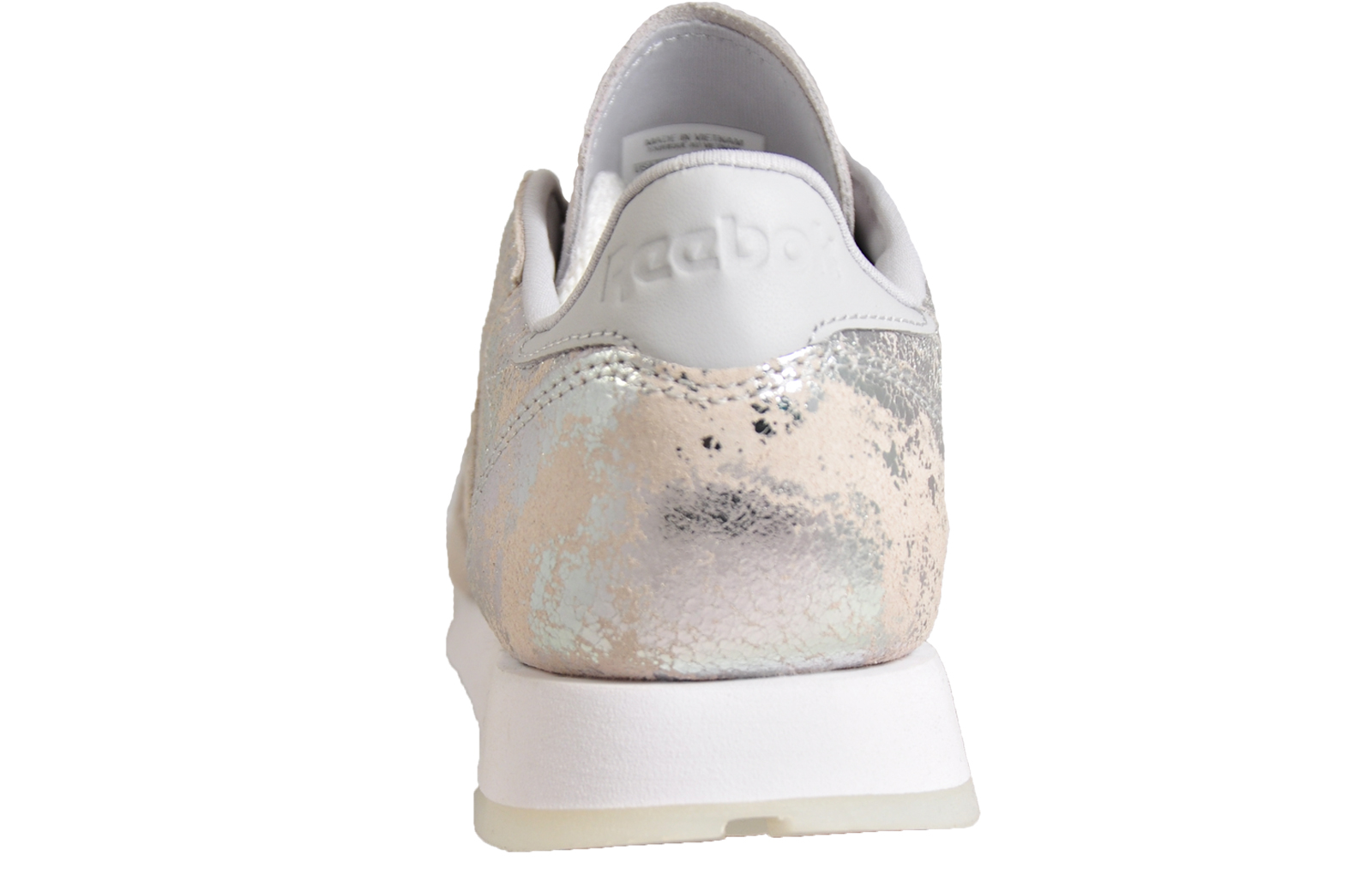 b8884796841c6f Reebok Classic CL Leather Hype Women s Girls Casual Retro Fashion Trainers  Silver