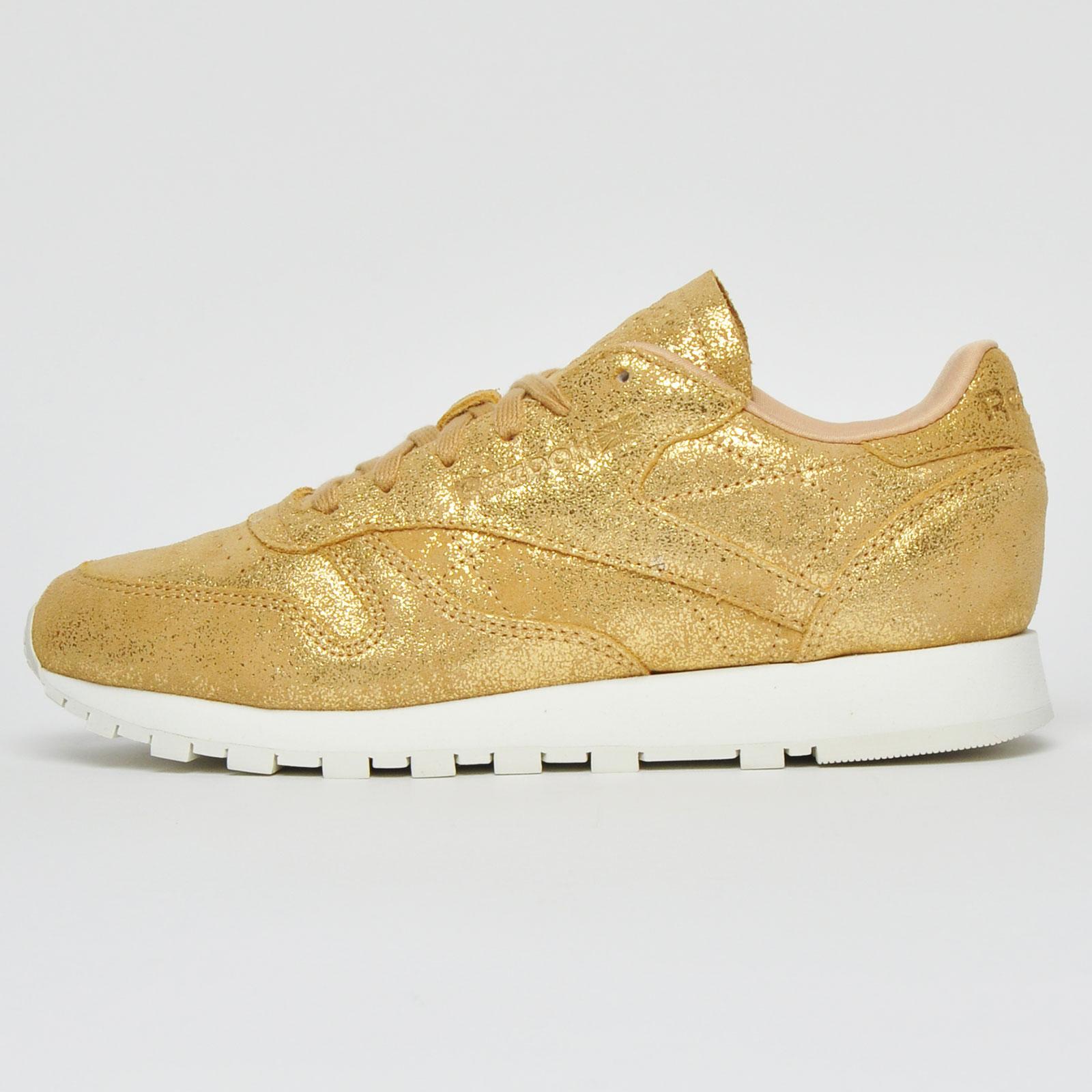 Girls Fashion Retro Trainers Gold