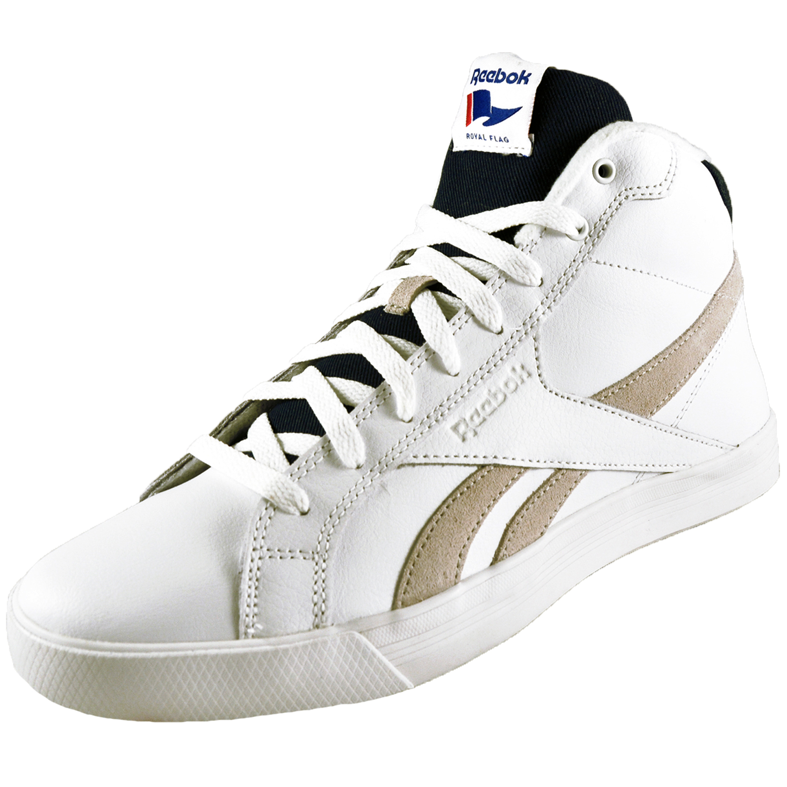 a55677065f5 Details about Reebok Royal Complete Classic Men s Causal Fashion Retro Mid  Trainers White B Gr