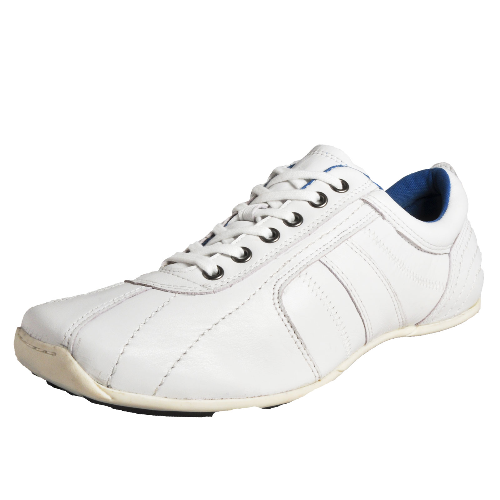 Red Tape Barney Mens Casual Leather Trainers Sports Shoes White Ebay