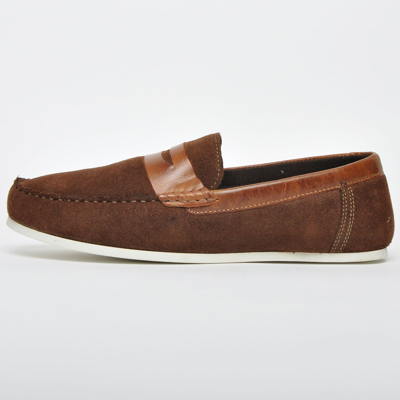 5f2e7486e Red Tape Wardon Men s Suede Leather Slip On Loafers Casual Shoes Brown